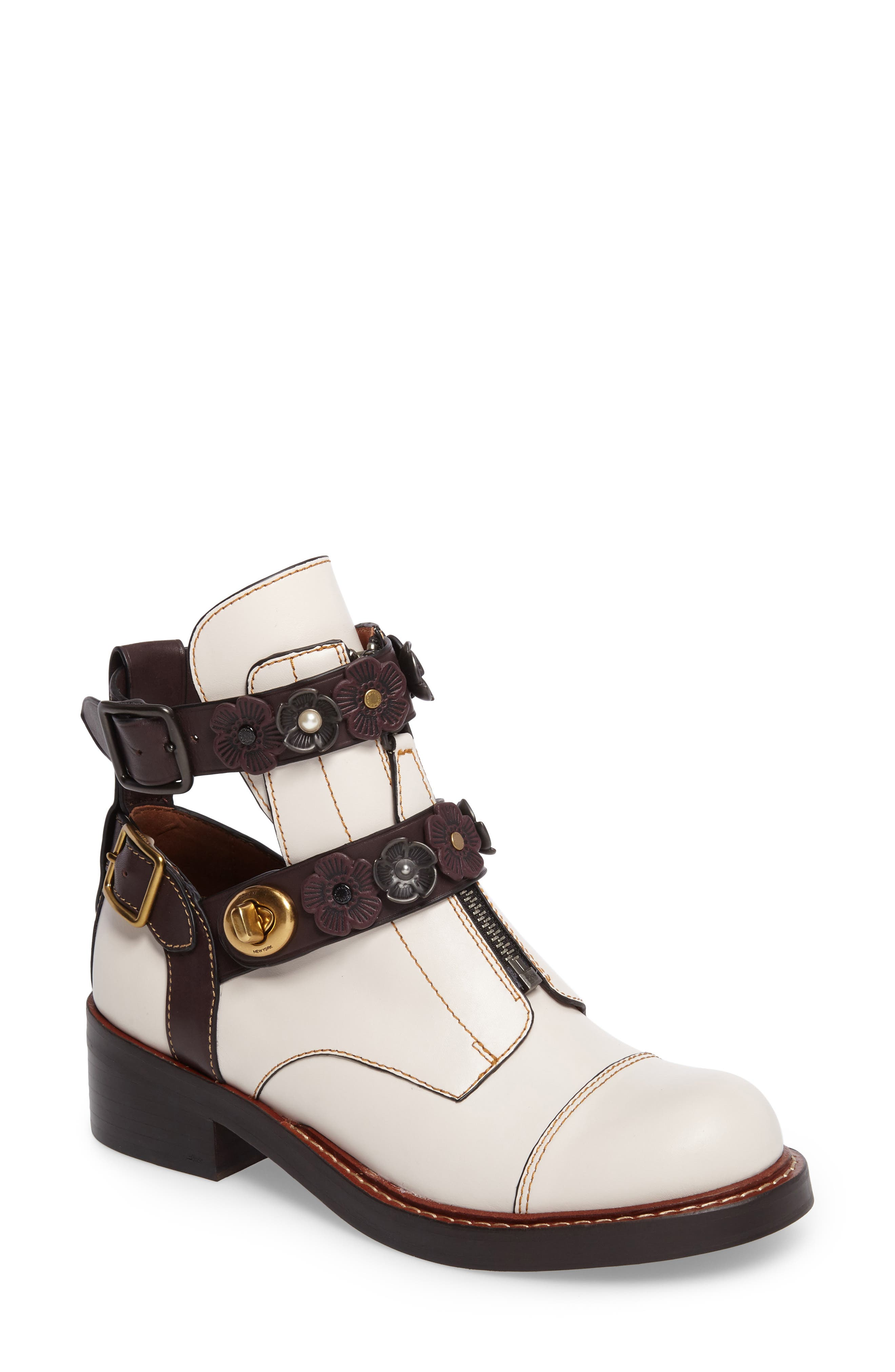 Alternate Image 1 Selected - COACH Moto Cutout Bootie (Women)