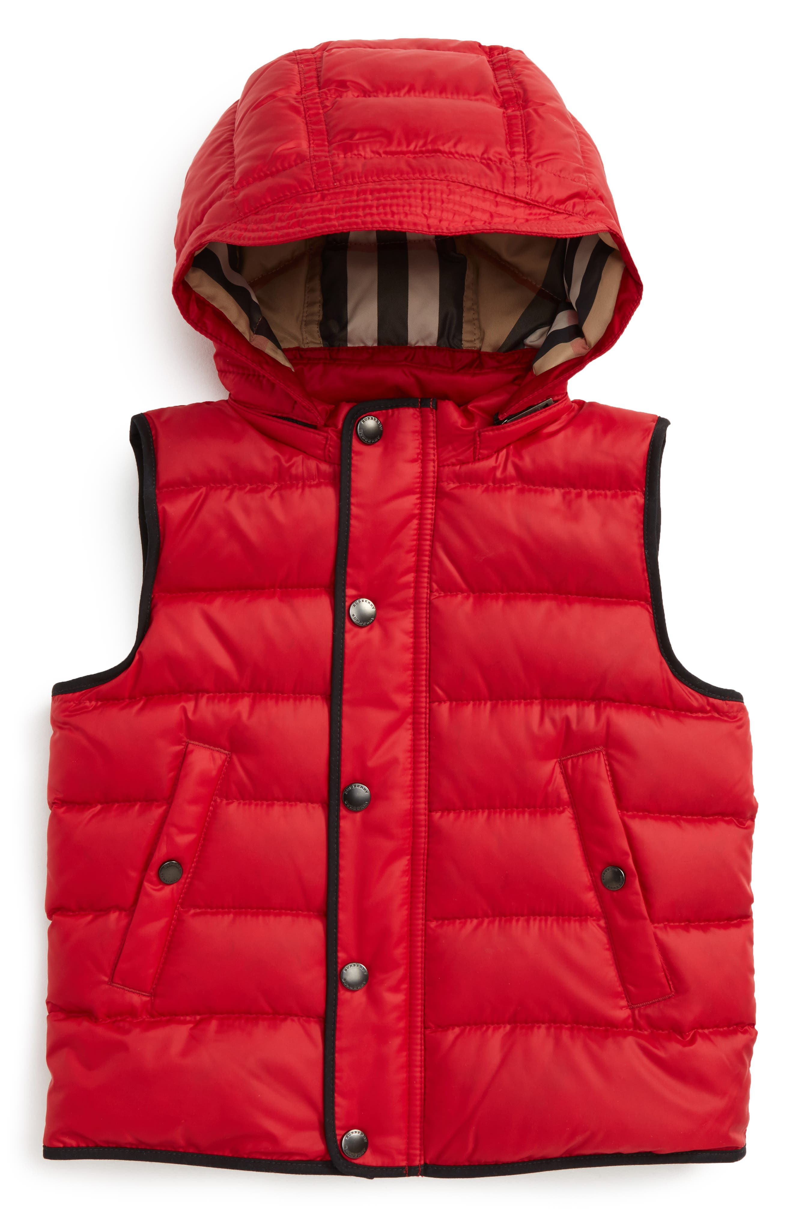Mini Carlton Quilted Down Vest,                         Main,                         color, Parade Red