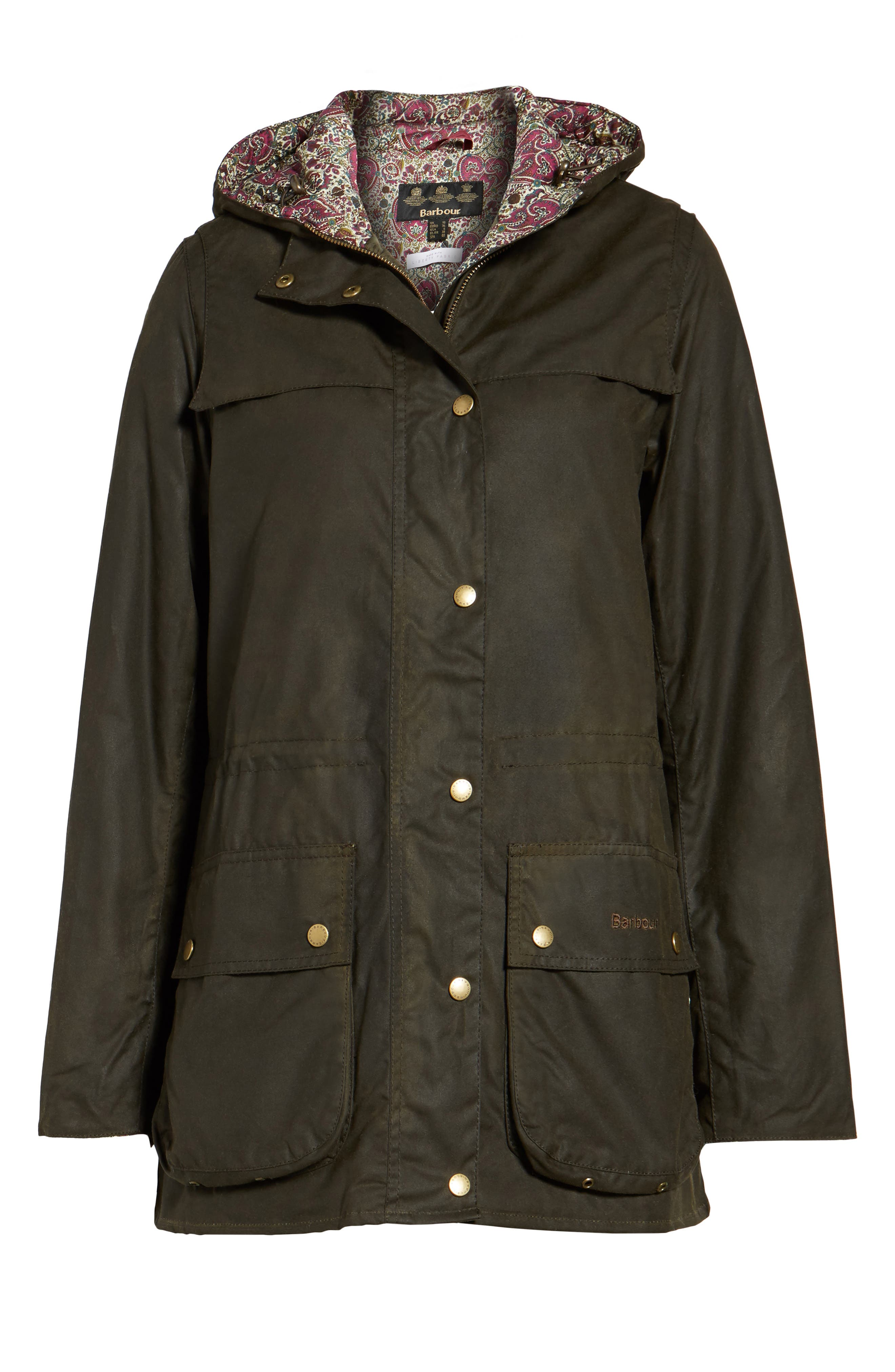 Alternate Image 6  - Barbour x Liberty Blaise Hooded Waxed Canvas Jacket