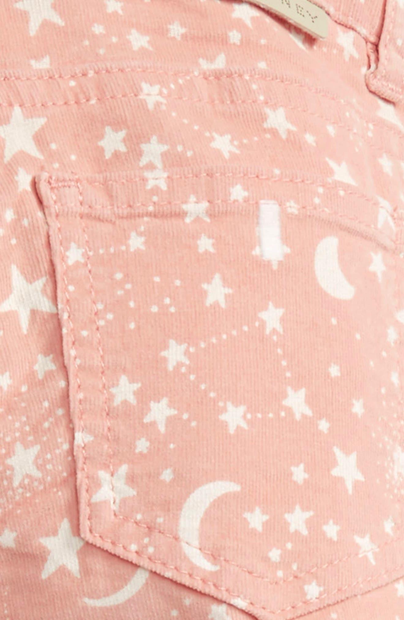 Kids Nina Star & Moon Print Skinny Corduroy Pants,                             Alternate thumbnail 3, color,                             Pink