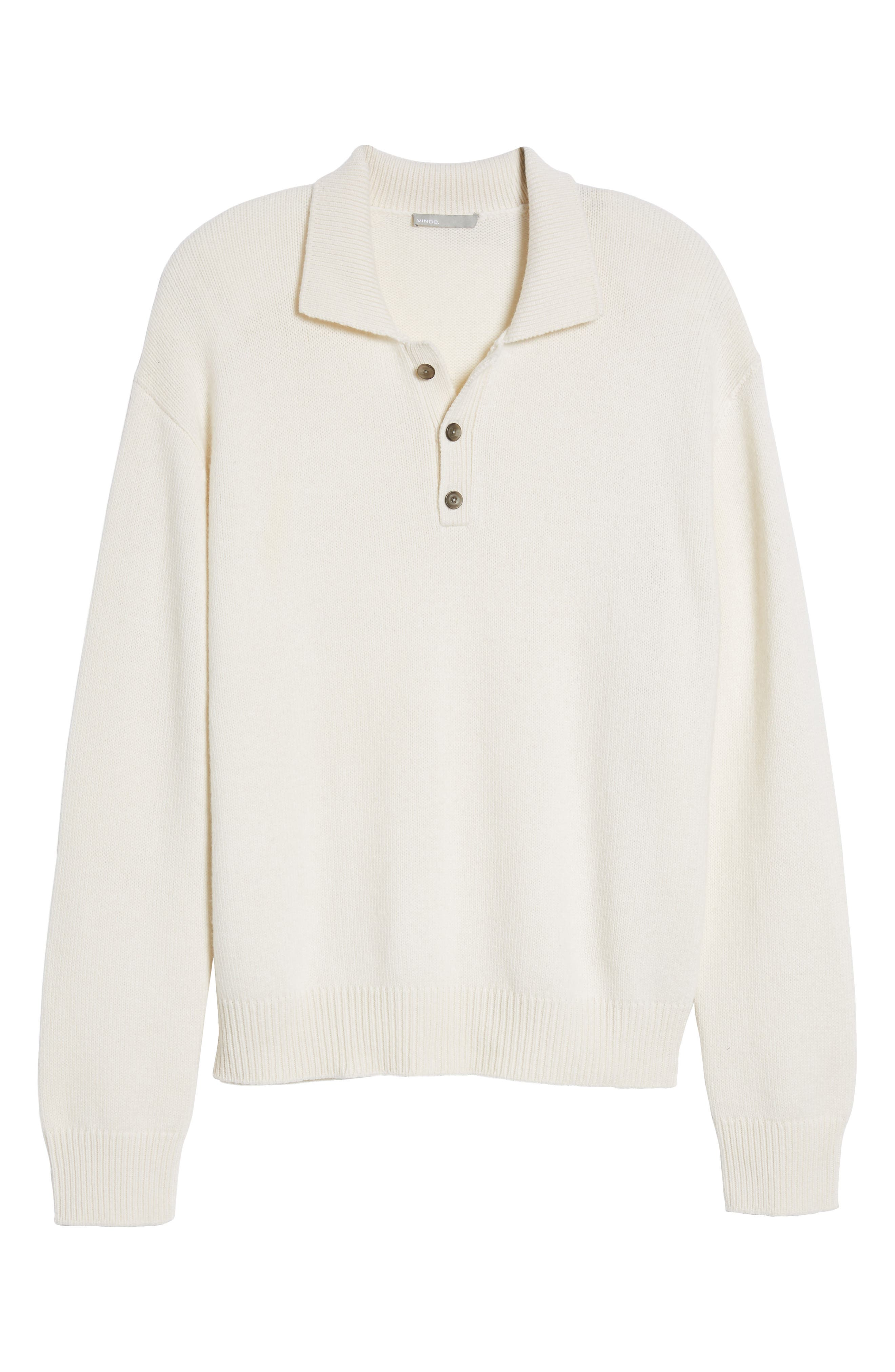 Alternate Image 8  - Vince Wool & Cashmere Polo Sweater