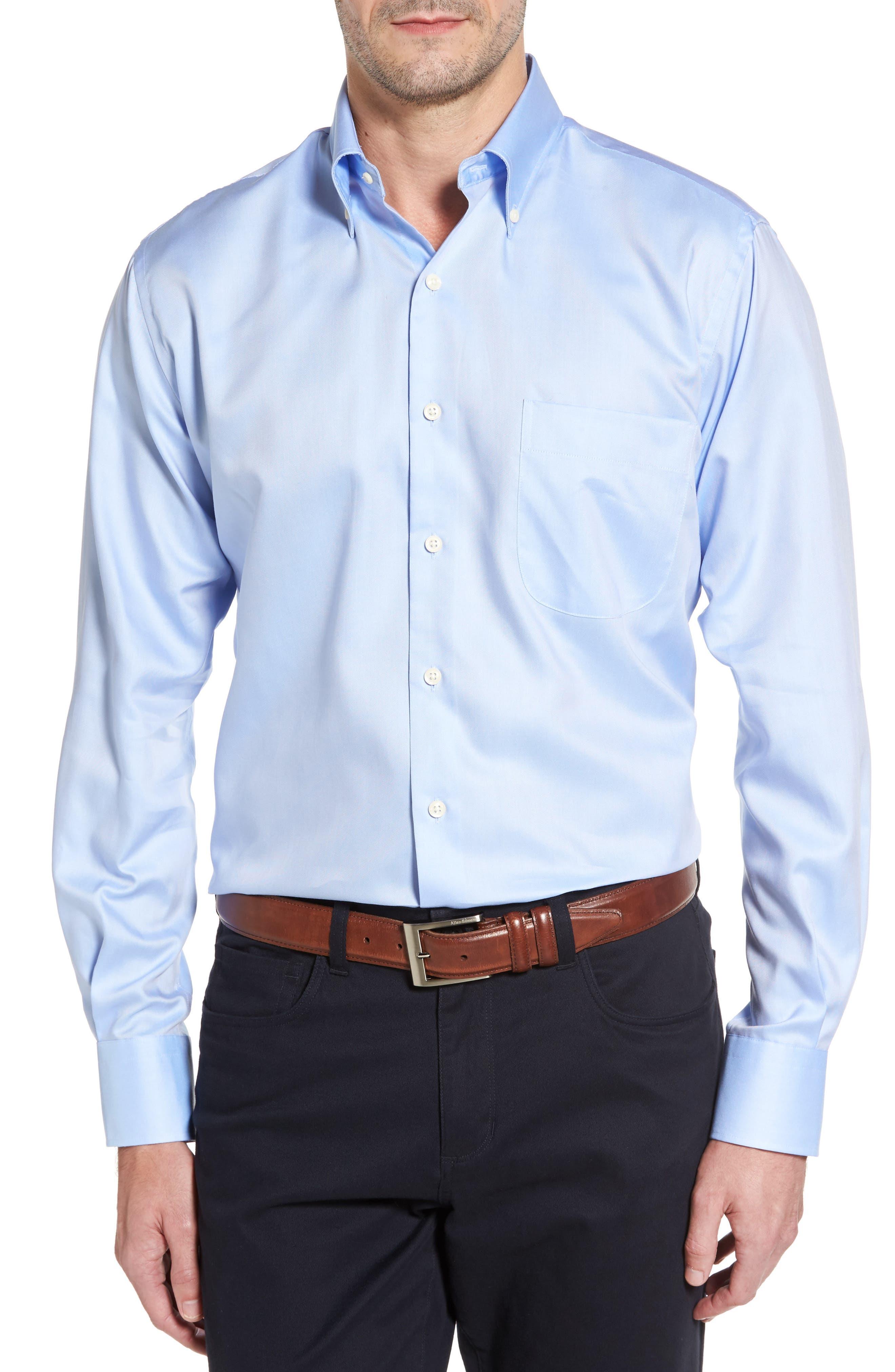 Alternate Image 1 Selected - Peter Millar Crown Soft Pinpoint Regular Fit Sport Shirt