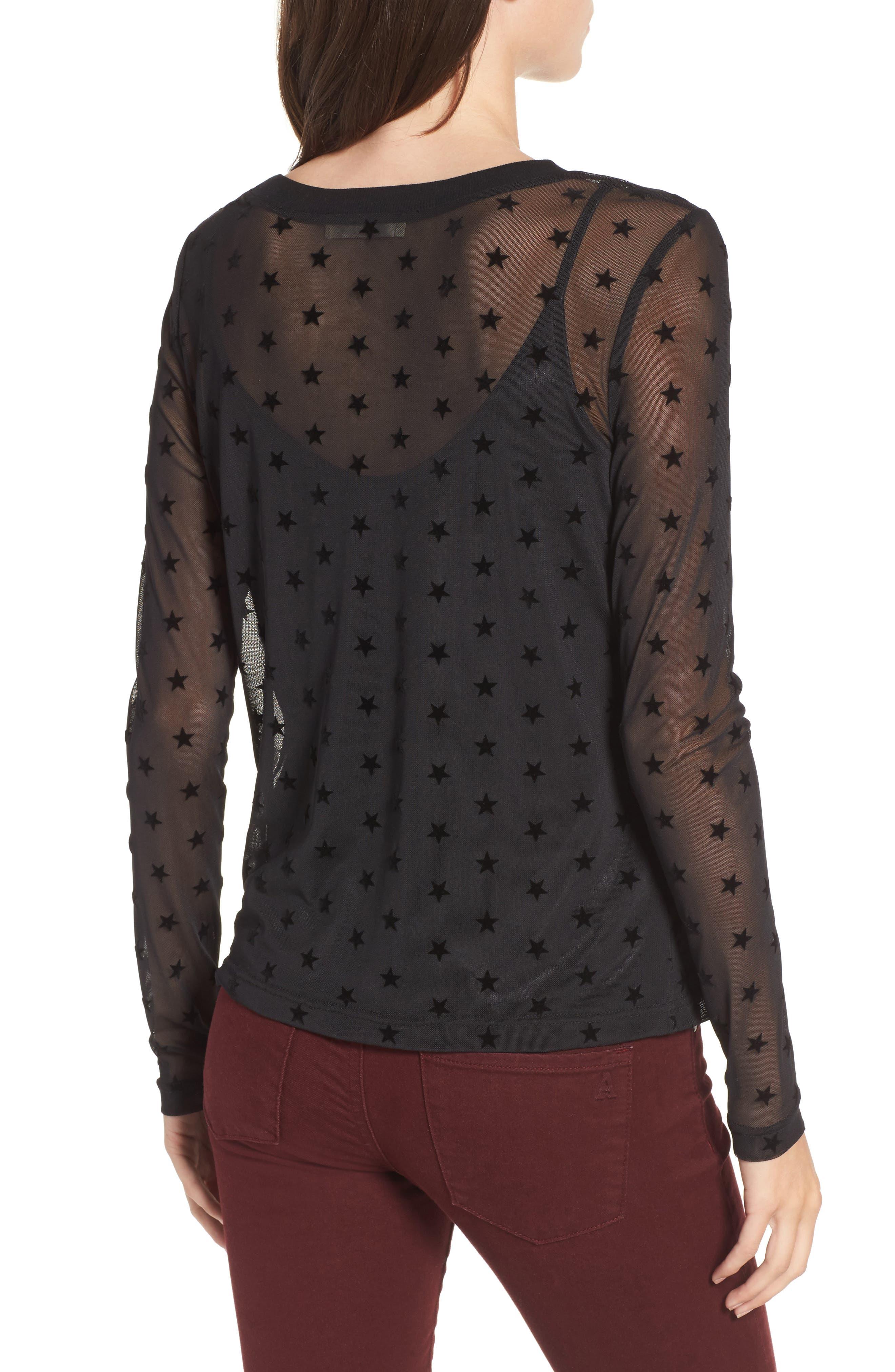Alternate Image 2  - Elodie Star Mesh Top