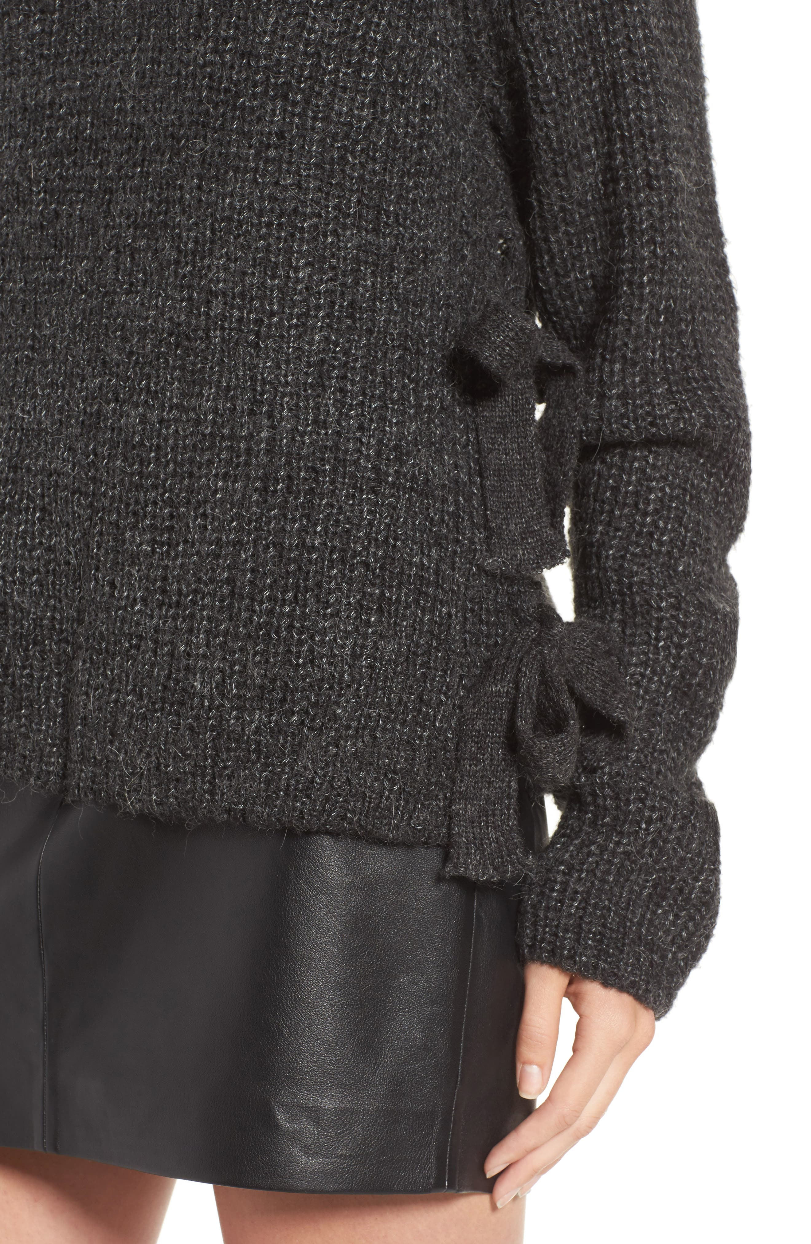 Alternate Image 4  - ASTR the Label Lexie Side Tie Sweater