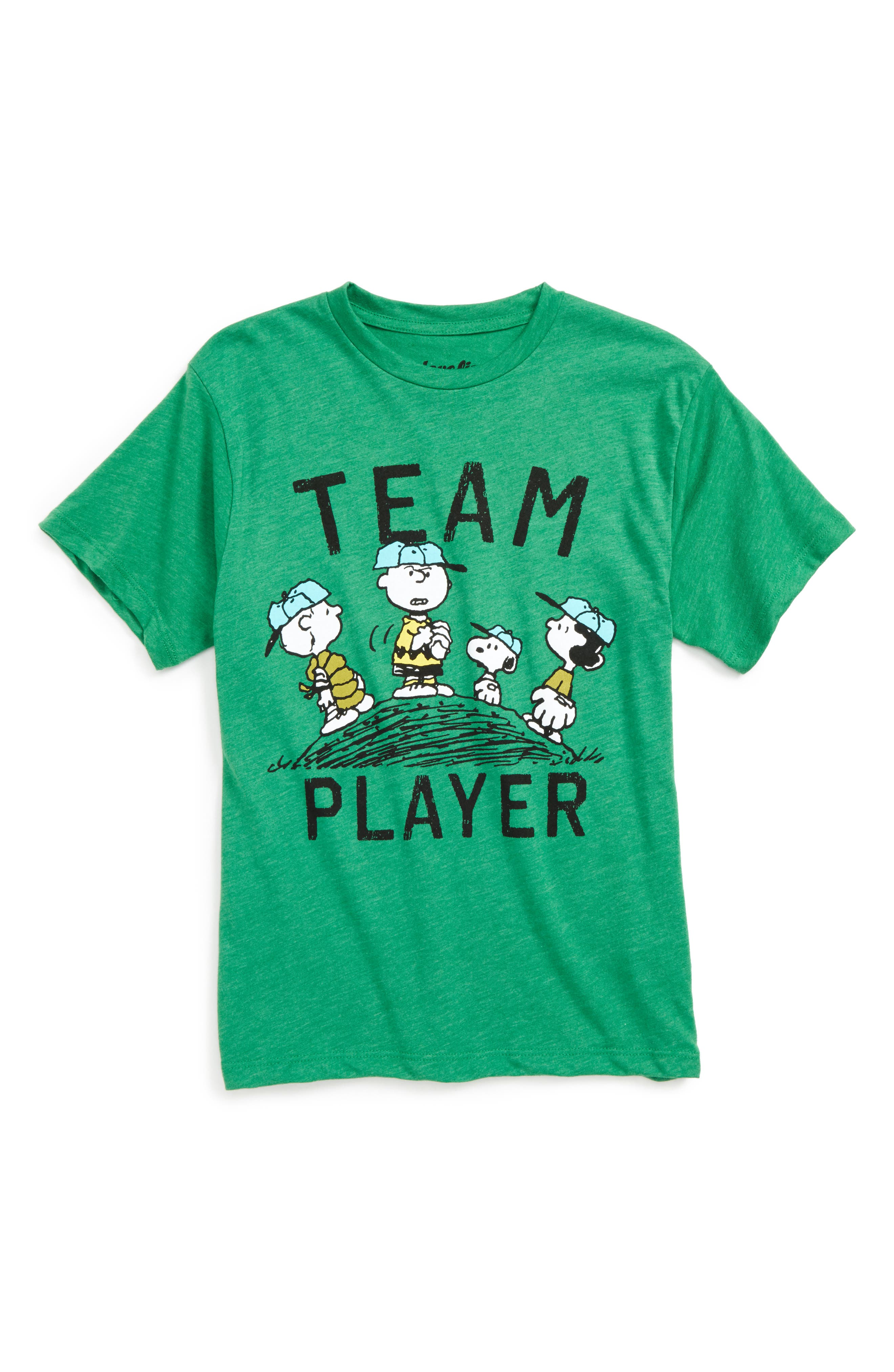 Mighty Fine x Peanuts® Team Player Graphic T-Shirt (Big Boys)