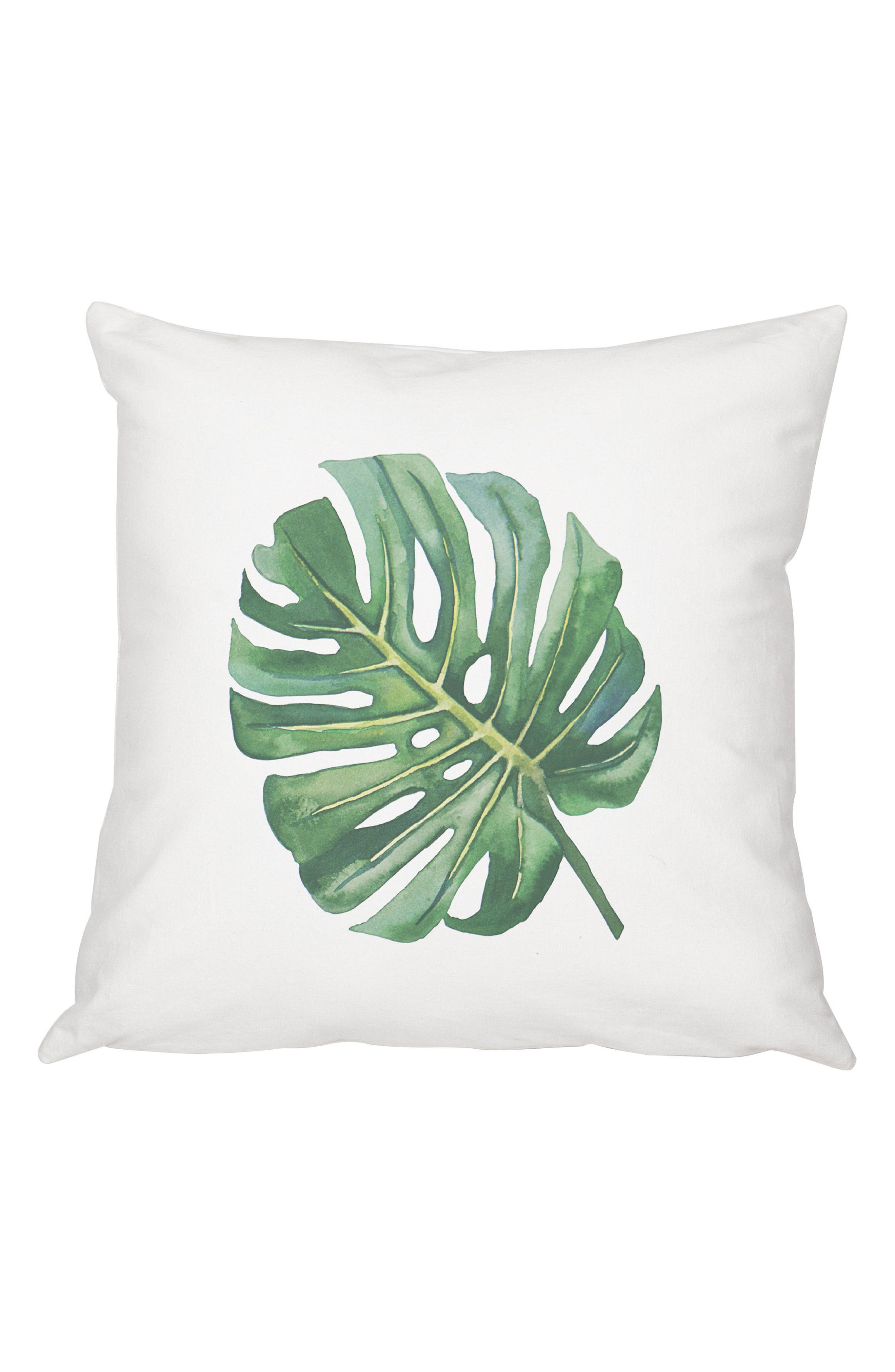 Palm Leaf Accent Pillow,                         Main,                         color, Green