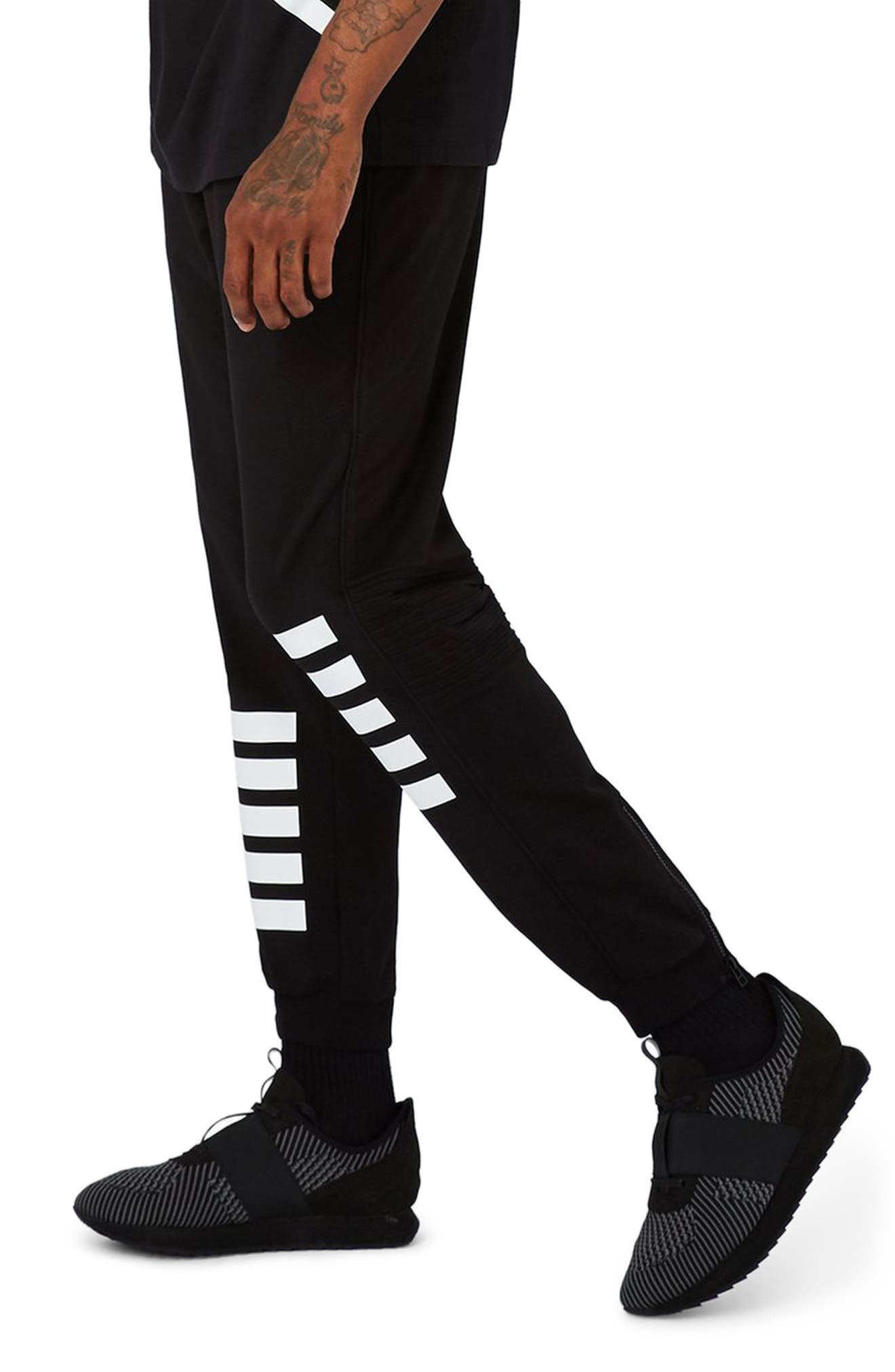 AAA Collection Stripe Jogger Pants,                         Main,                         color, Black Multi