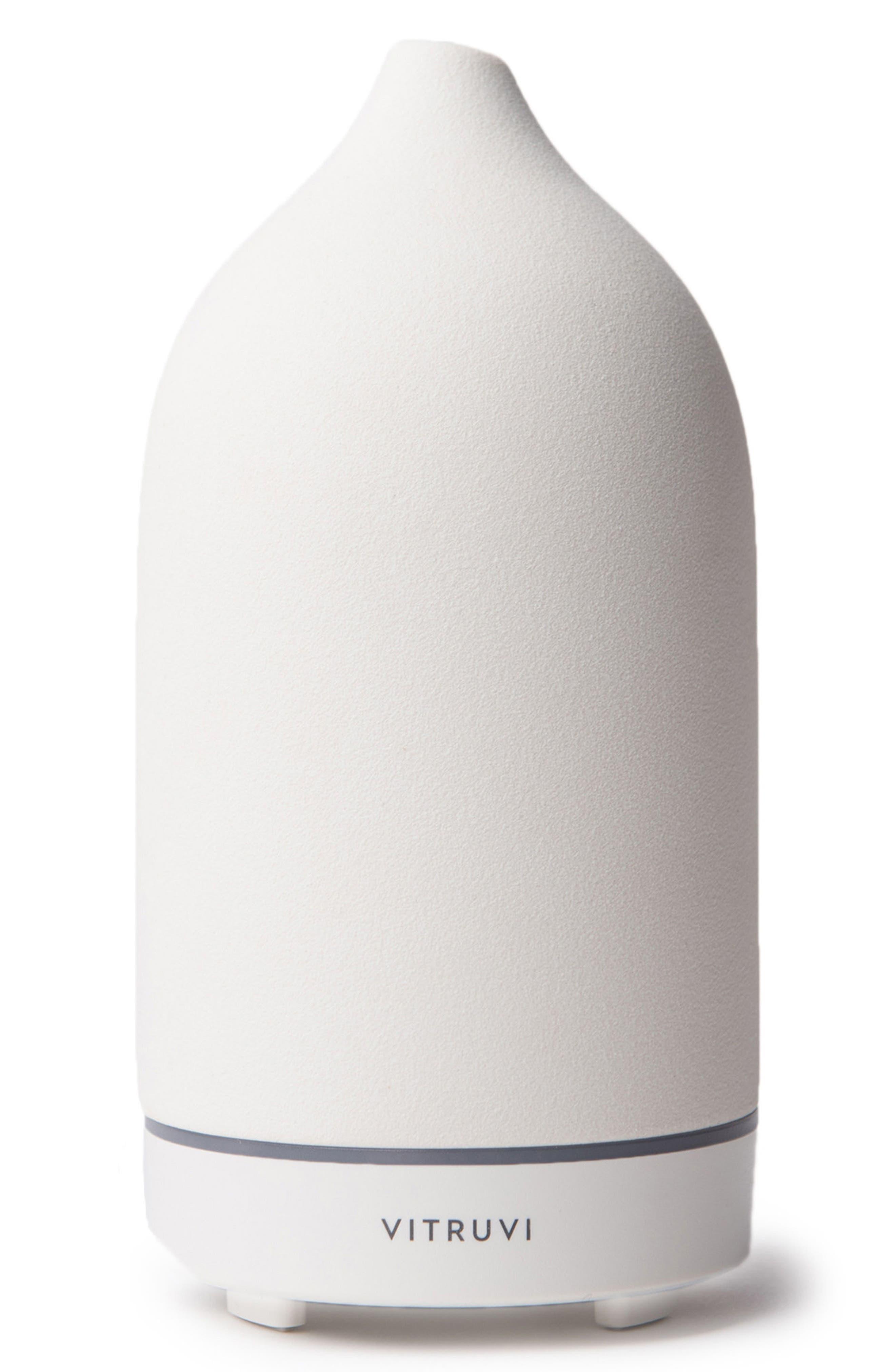 Porcelain Essential Oil Diffuser,                         Main,                         color, White