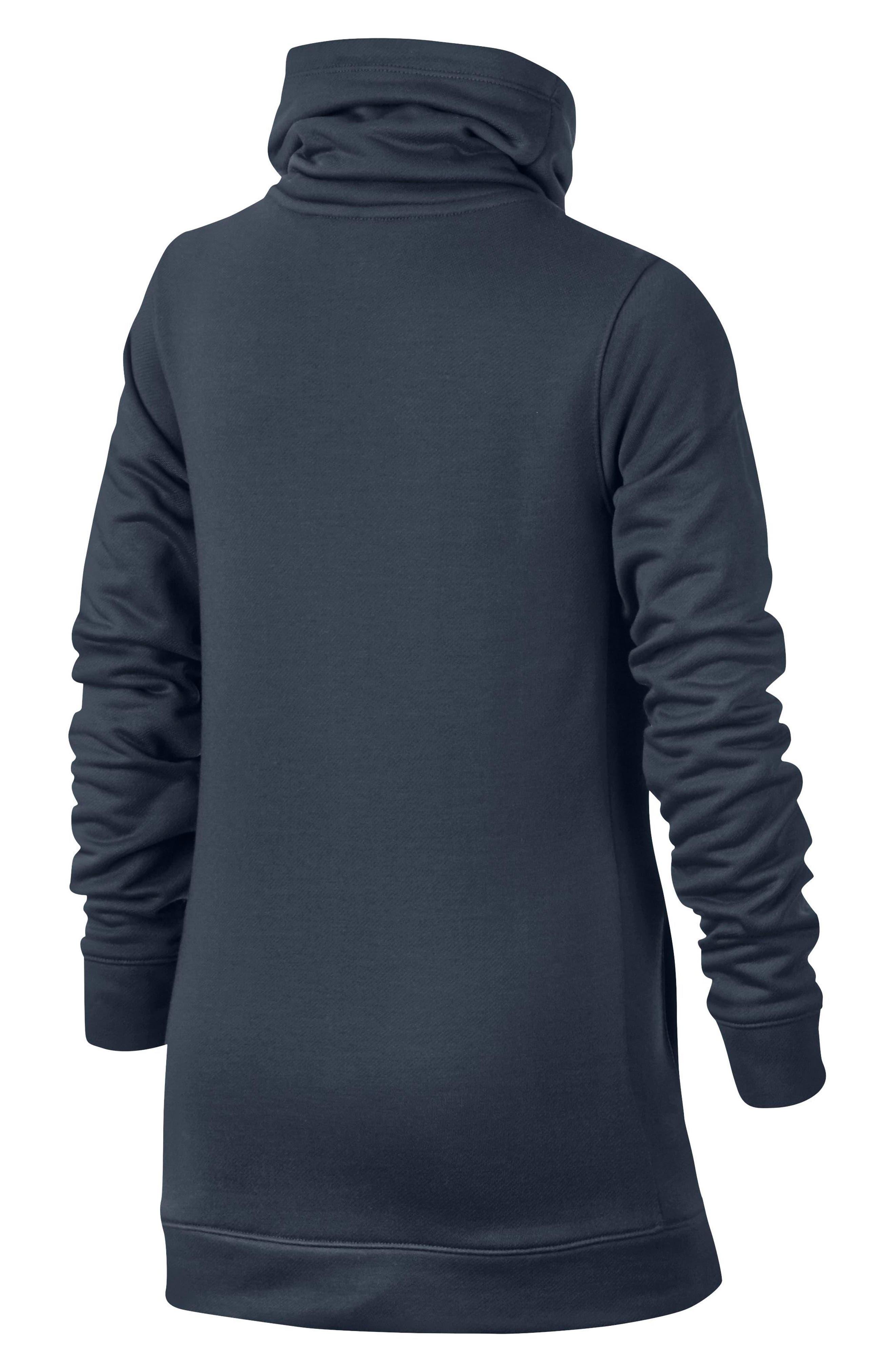 Dry Core Studio Long Sleeve Pullover,                             Alternate thumbnail 2, color,                             Thunder Blue/ Racer Pink