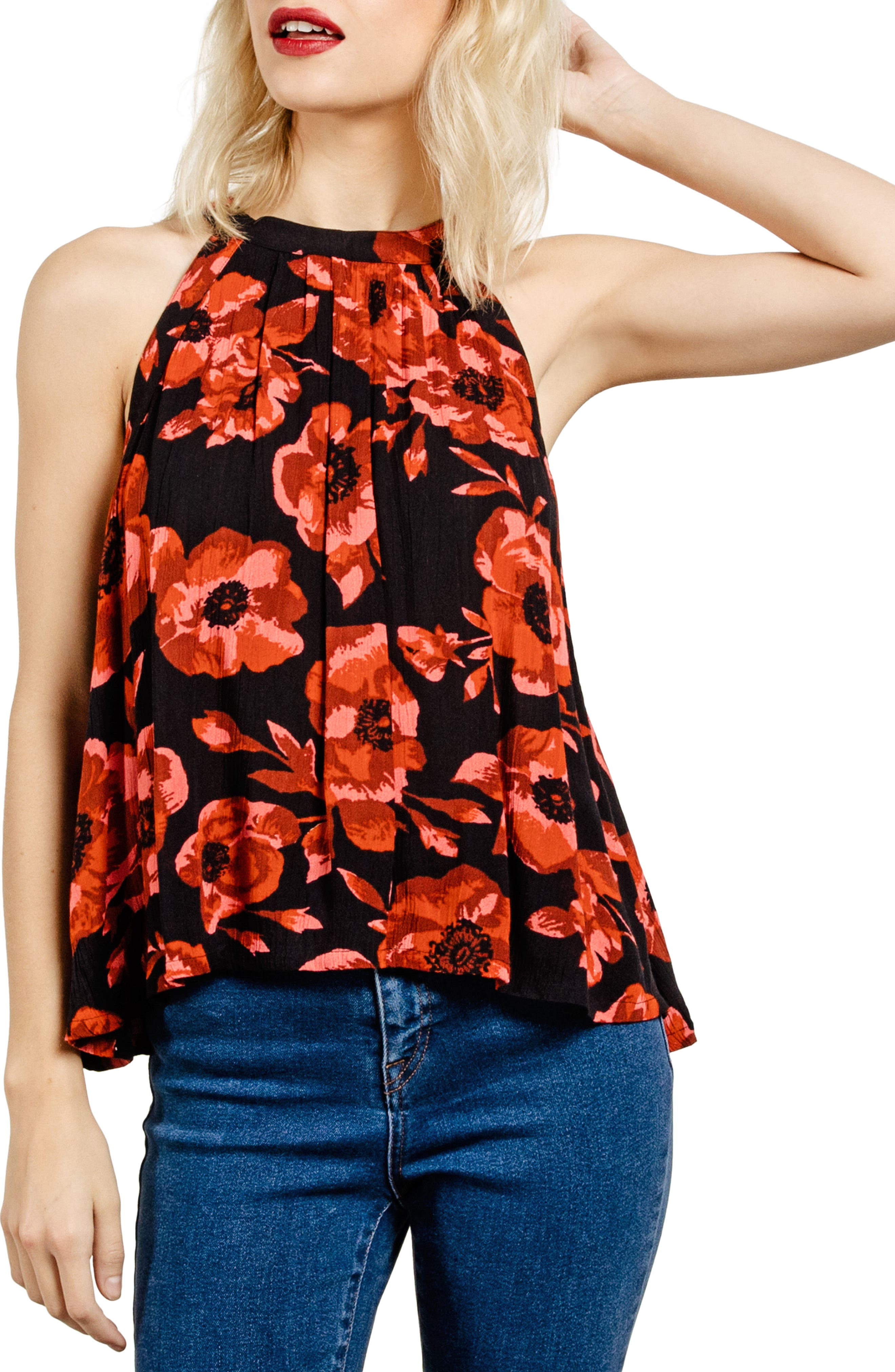 Alternate Image 1 Selected - Volcom Text Me Print Swing Top