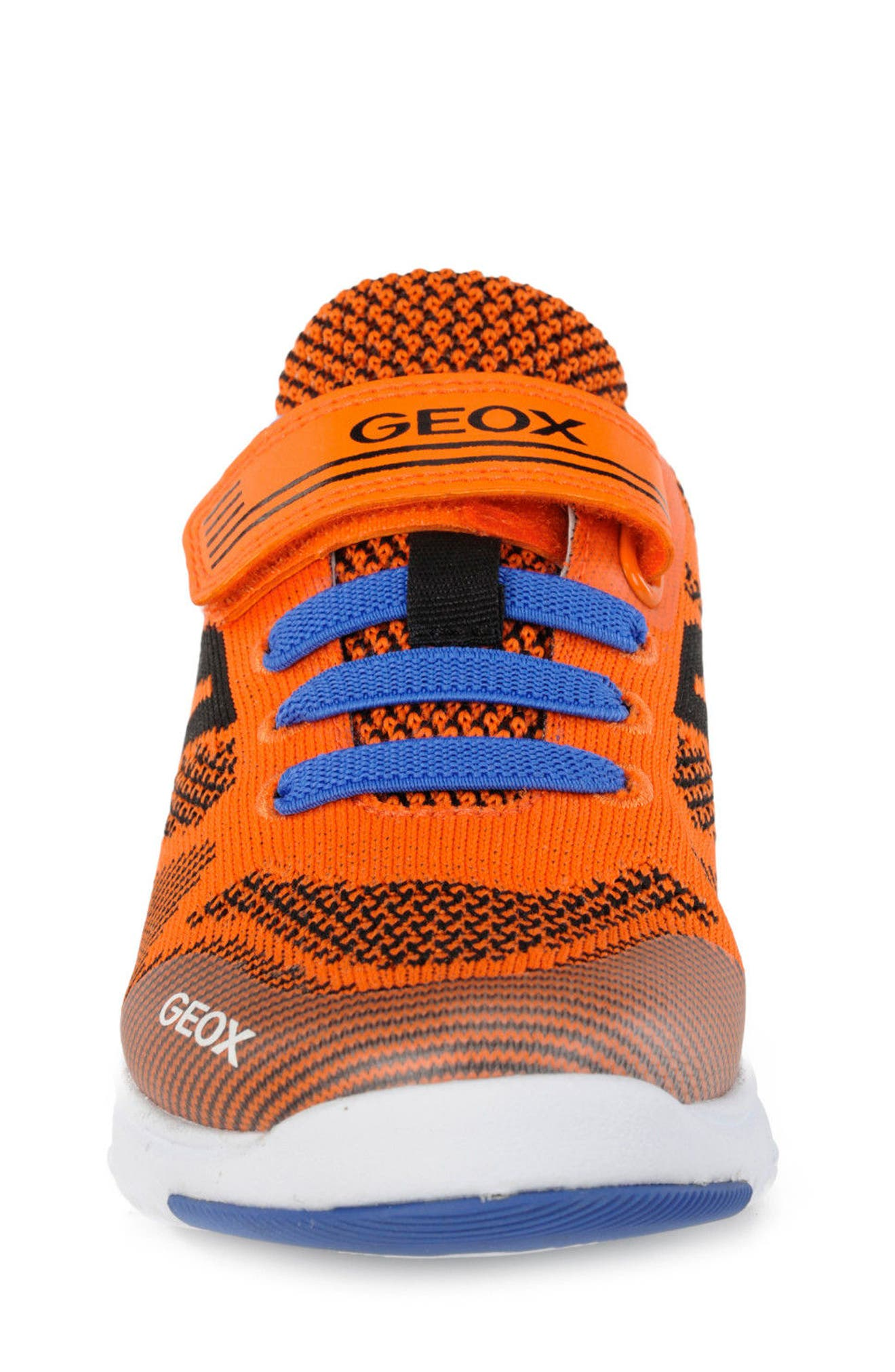 Xunday Low Top Woven Sneaker,                             Alternate thumbnail 4, color,                             Orange/ Royal