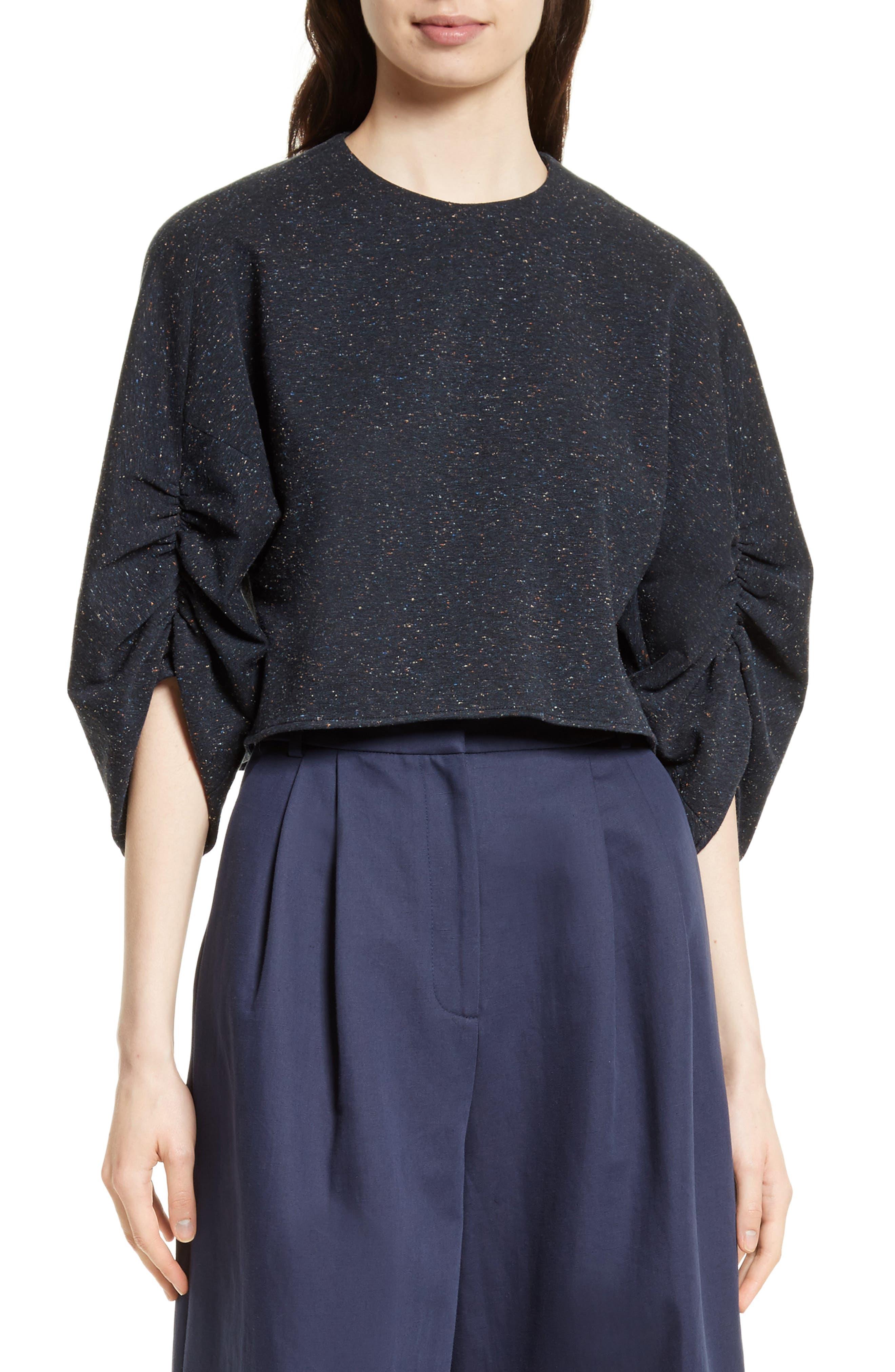Imogen Tweed Top,                         Main,                         color, Navy Melange