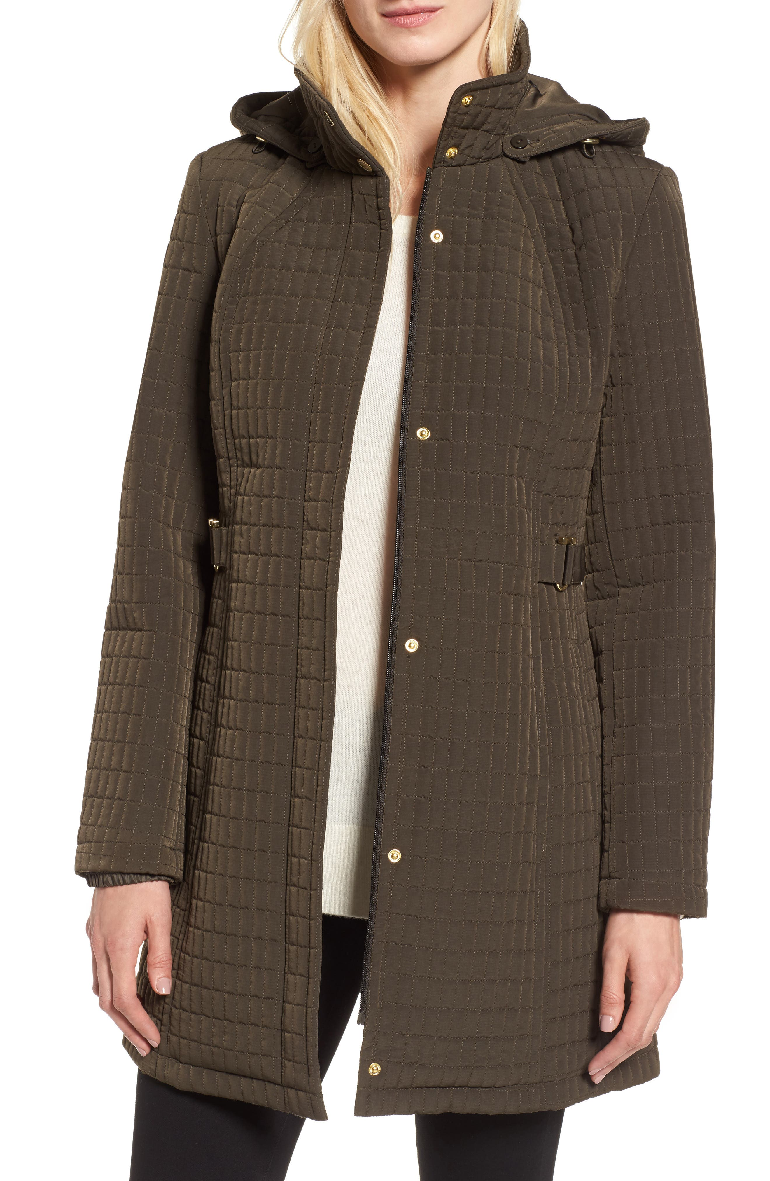 Quilted Jacket,                         Main,                         color, Fatigue