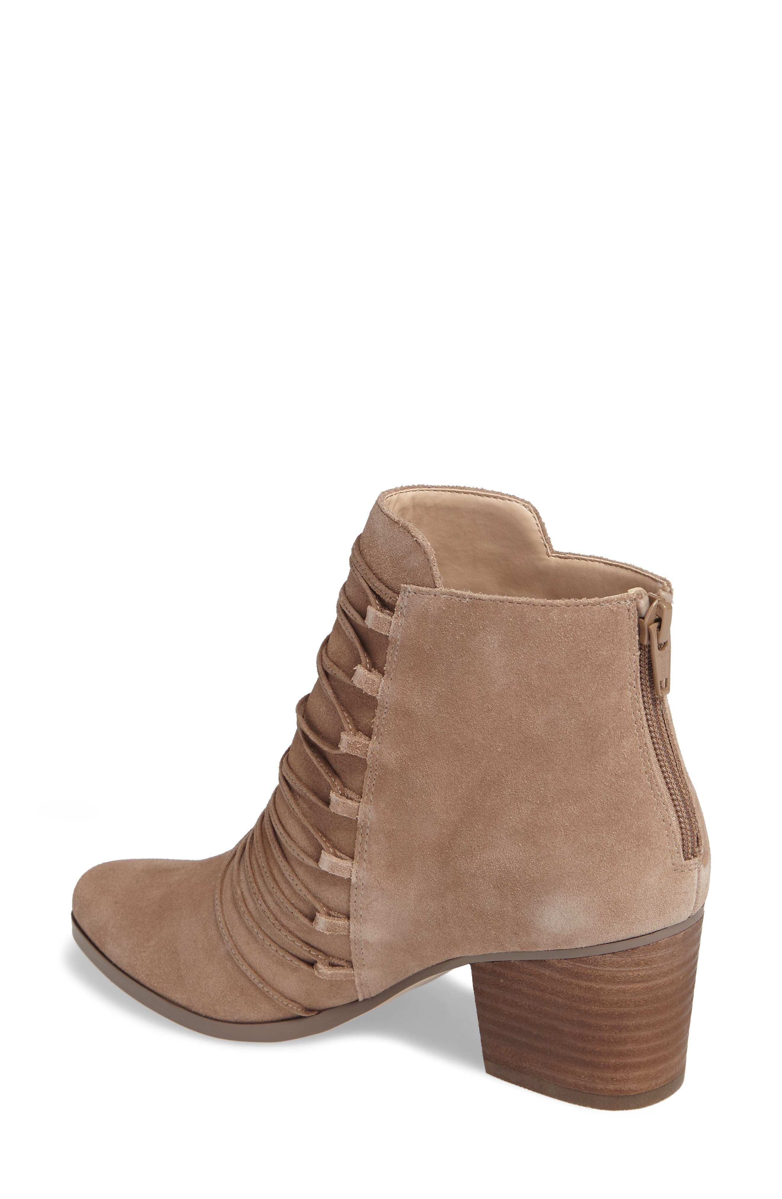 Bellevue Bootie,                             Alternate thumbnail 2, color,                             Night Taupe Suede