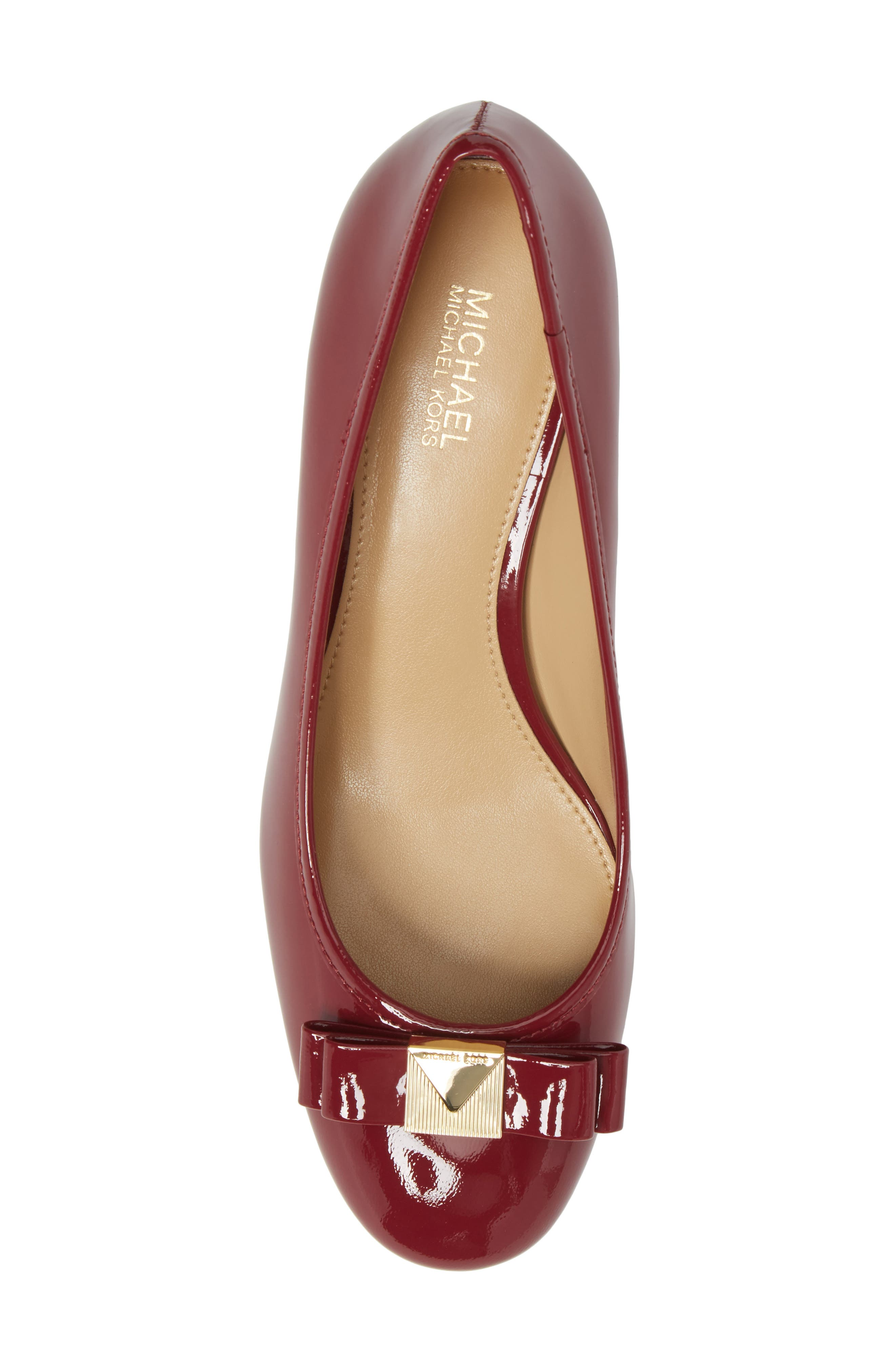 Caroline Pump,                             Alternate thumbnail 5, color,                             Mulberry Patent Leather