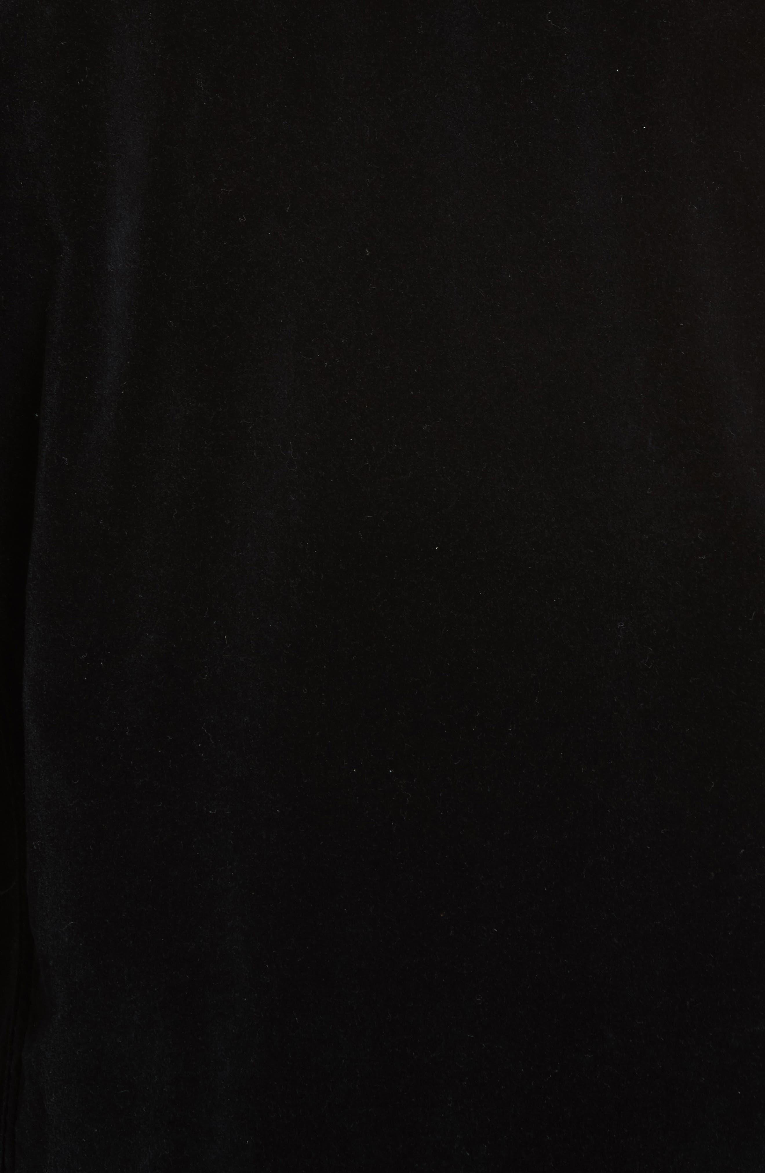 Oversize Velvet Jacket,                             Alternate thumbnail 5, color,                             Black Velvet
