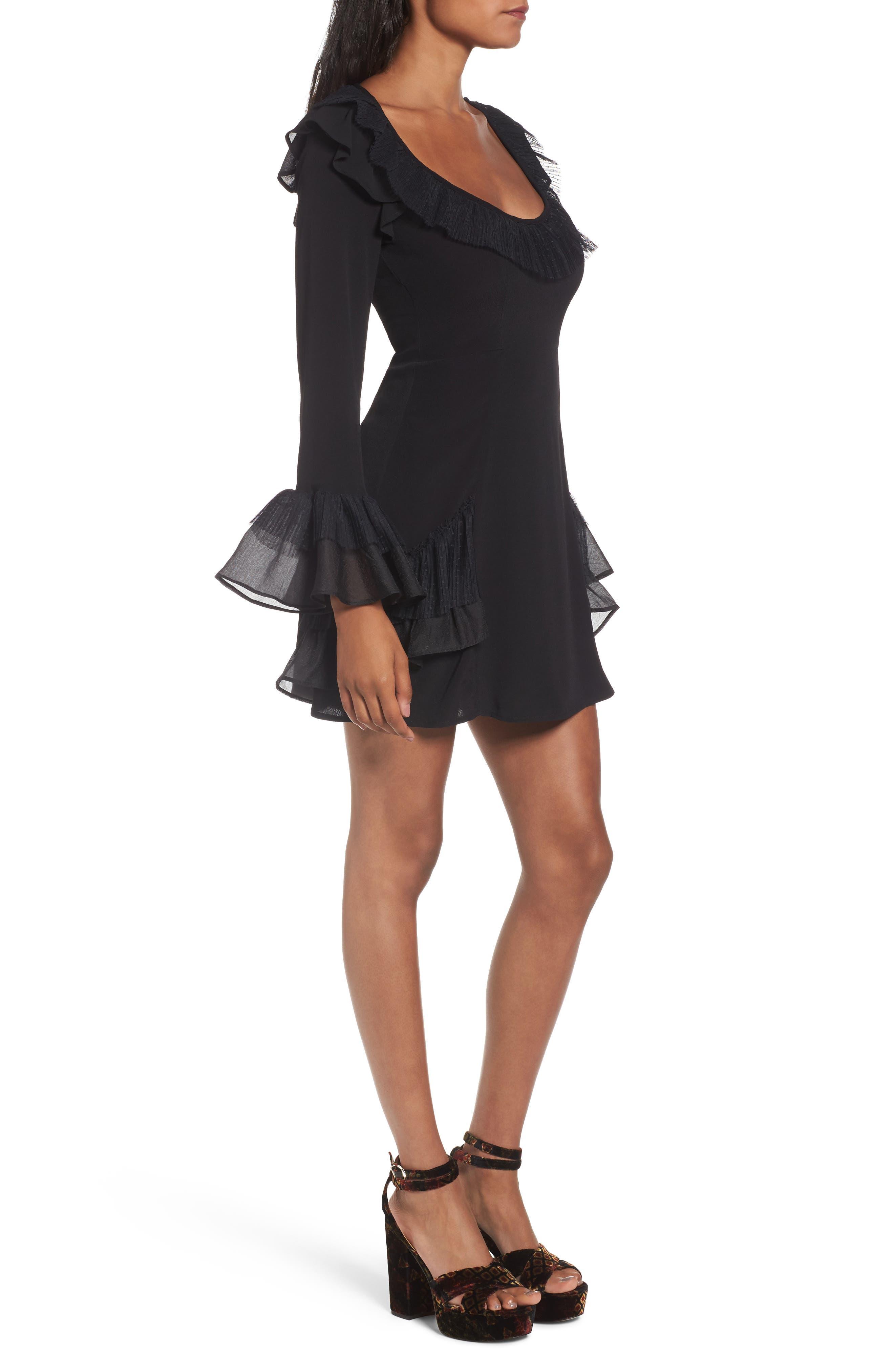 Evie Minidress,                             Alternate thumbnail 2, color,                             Black