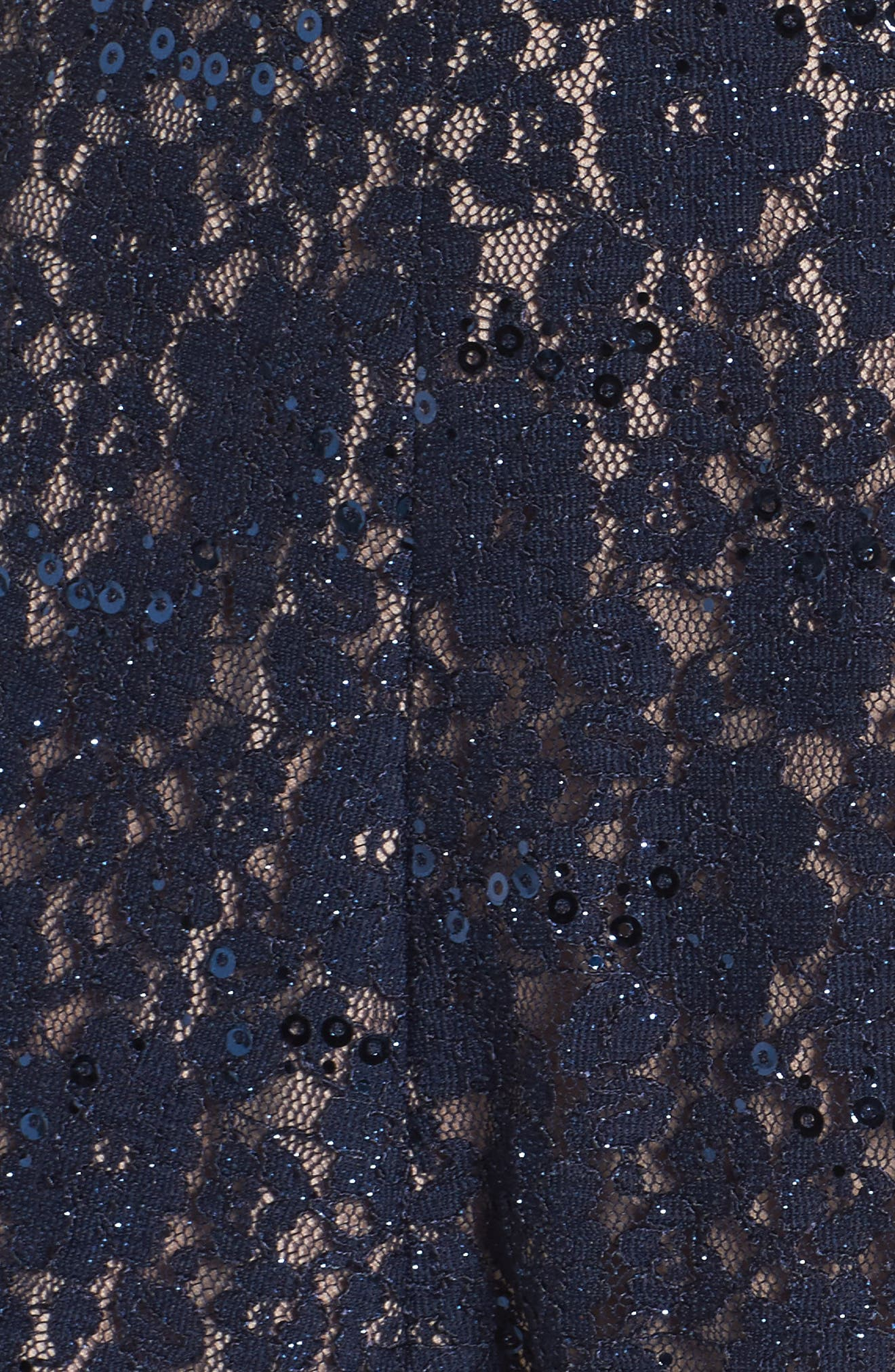 Alternate Image 5  - Morgan & Co. Sheer Inset Lace Fit & Flare Dress