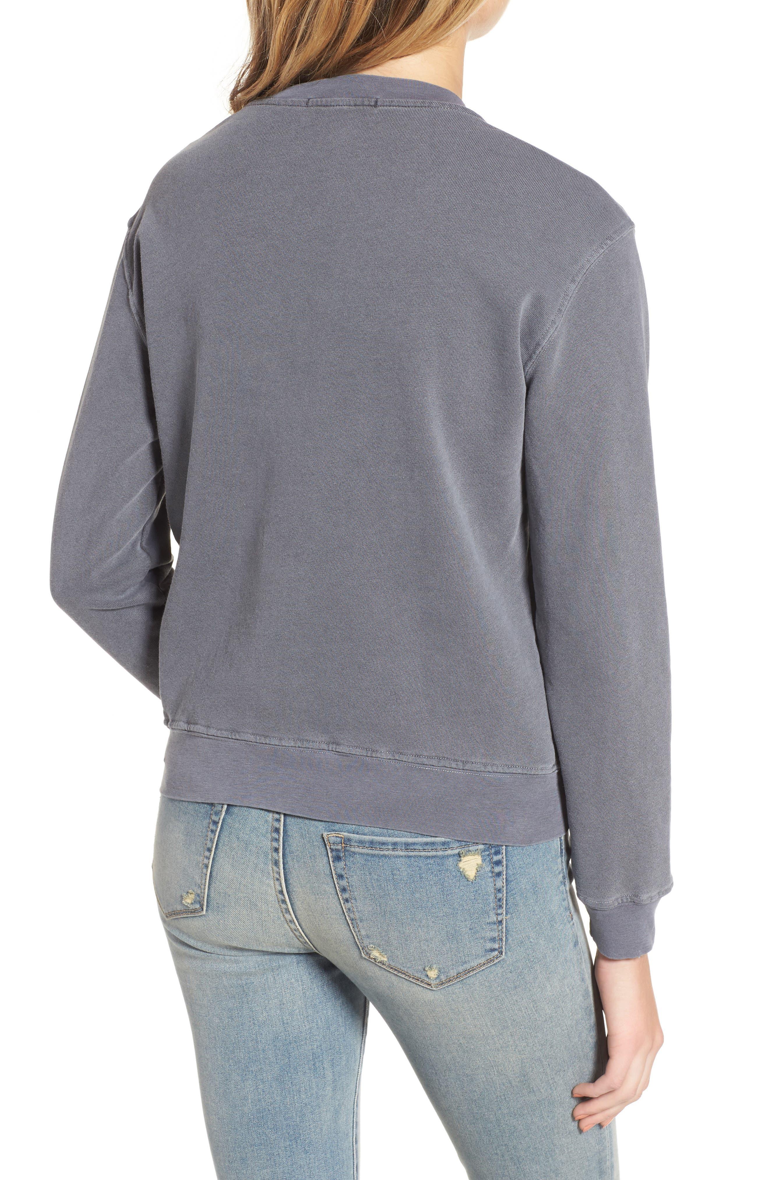 Alternate Image 2  - Stateside Lace Trim Sweatshirt