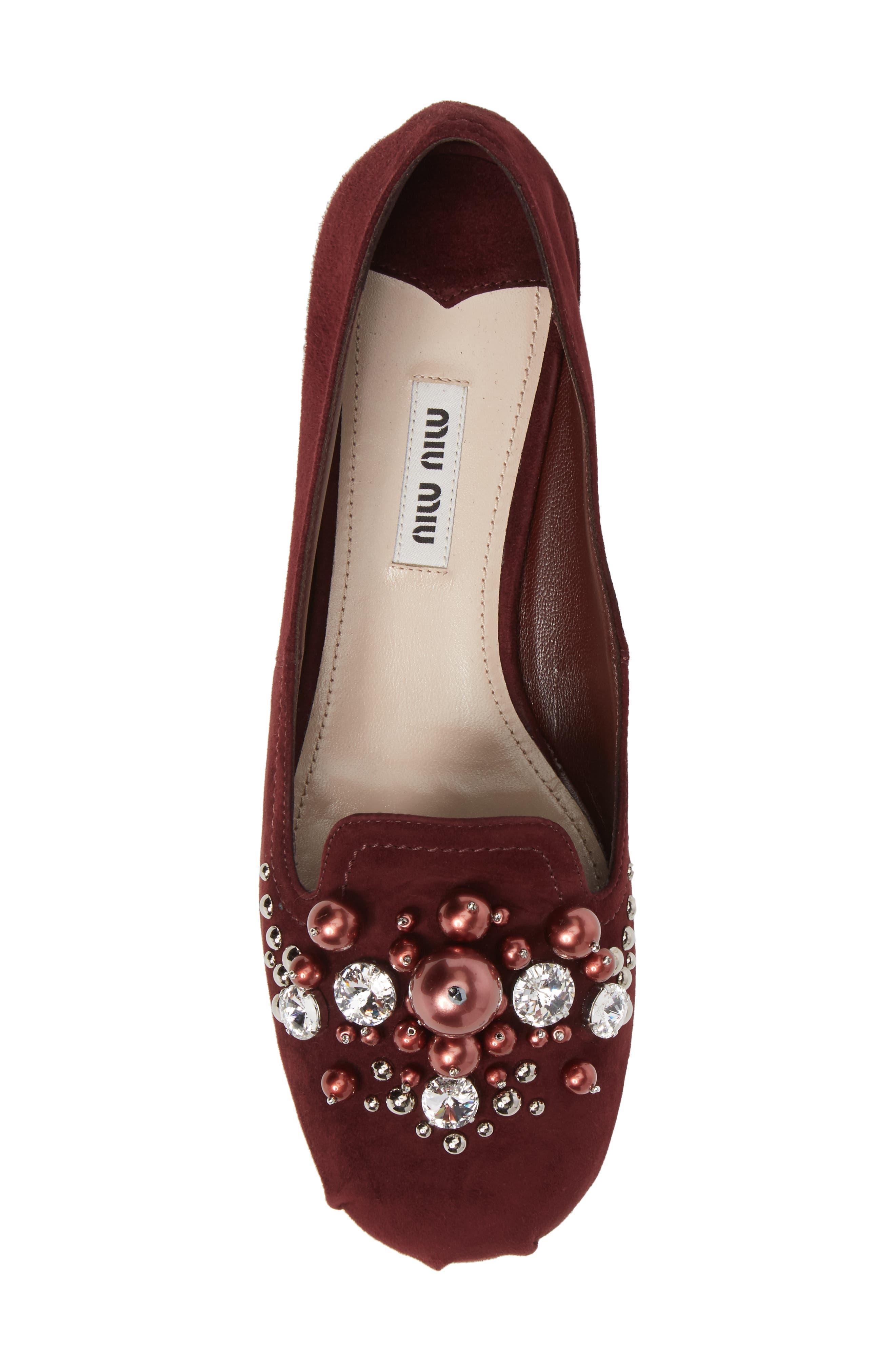 Alternate Image 5  - Miu Miu Embellished Loafer (Women)