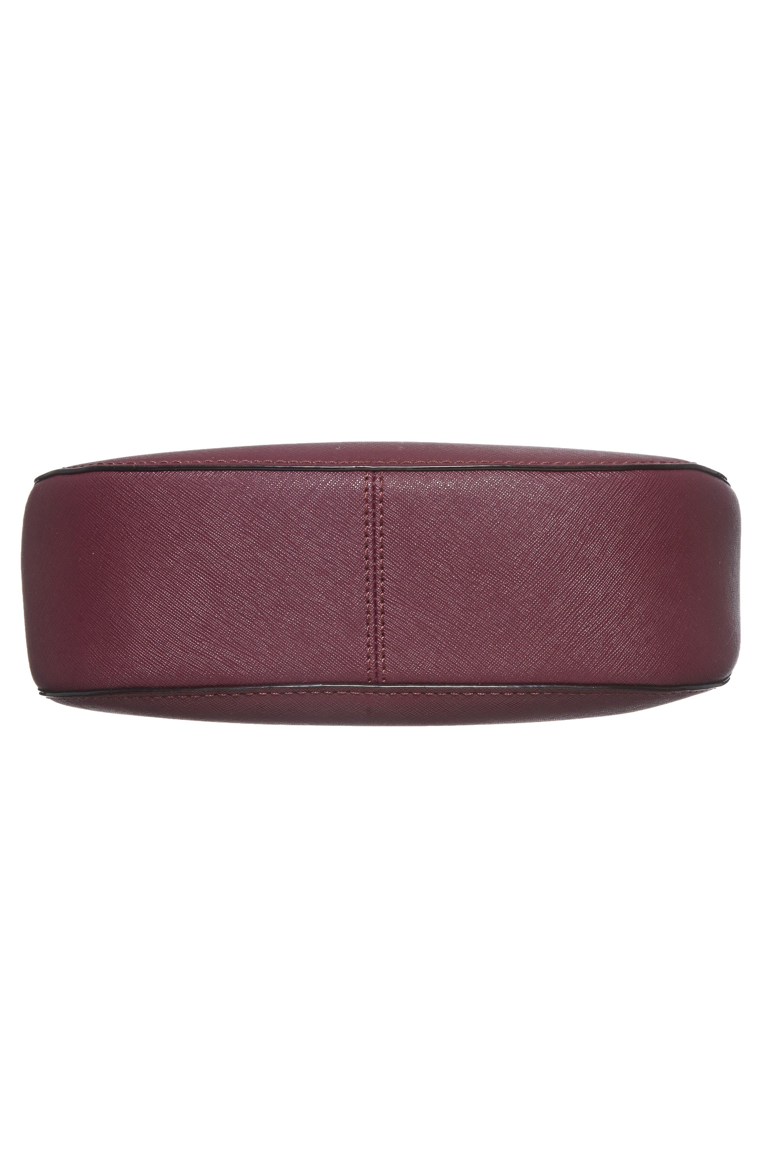 cameron street - robin leather crossbody bag,                             Alternate thumbnail 5, color,                             Deep Plum