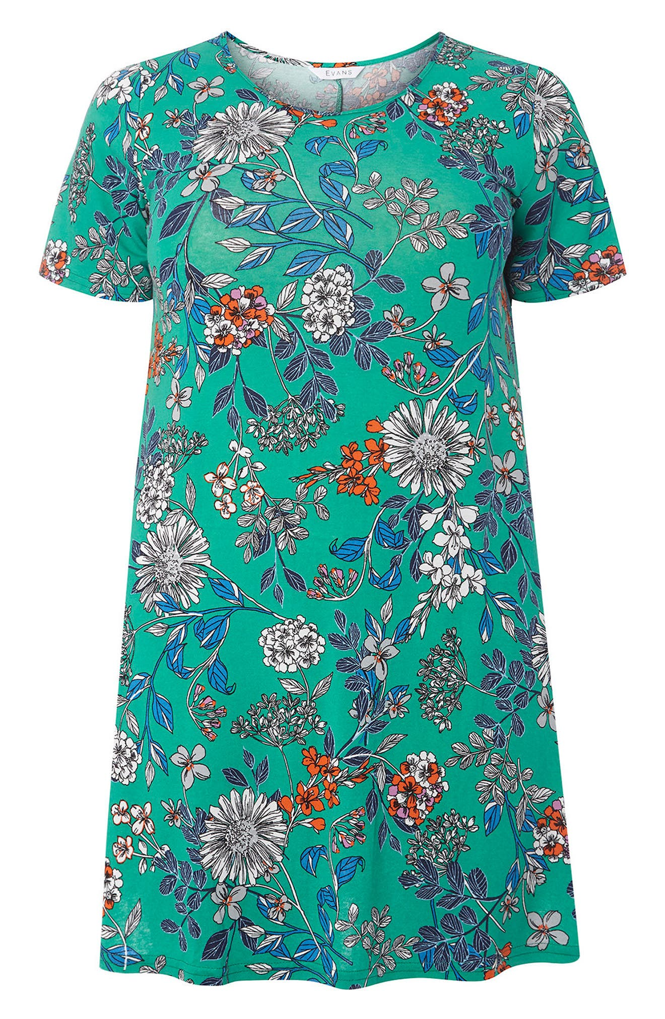 Evans Floral Print Swing Top (Plus Size)