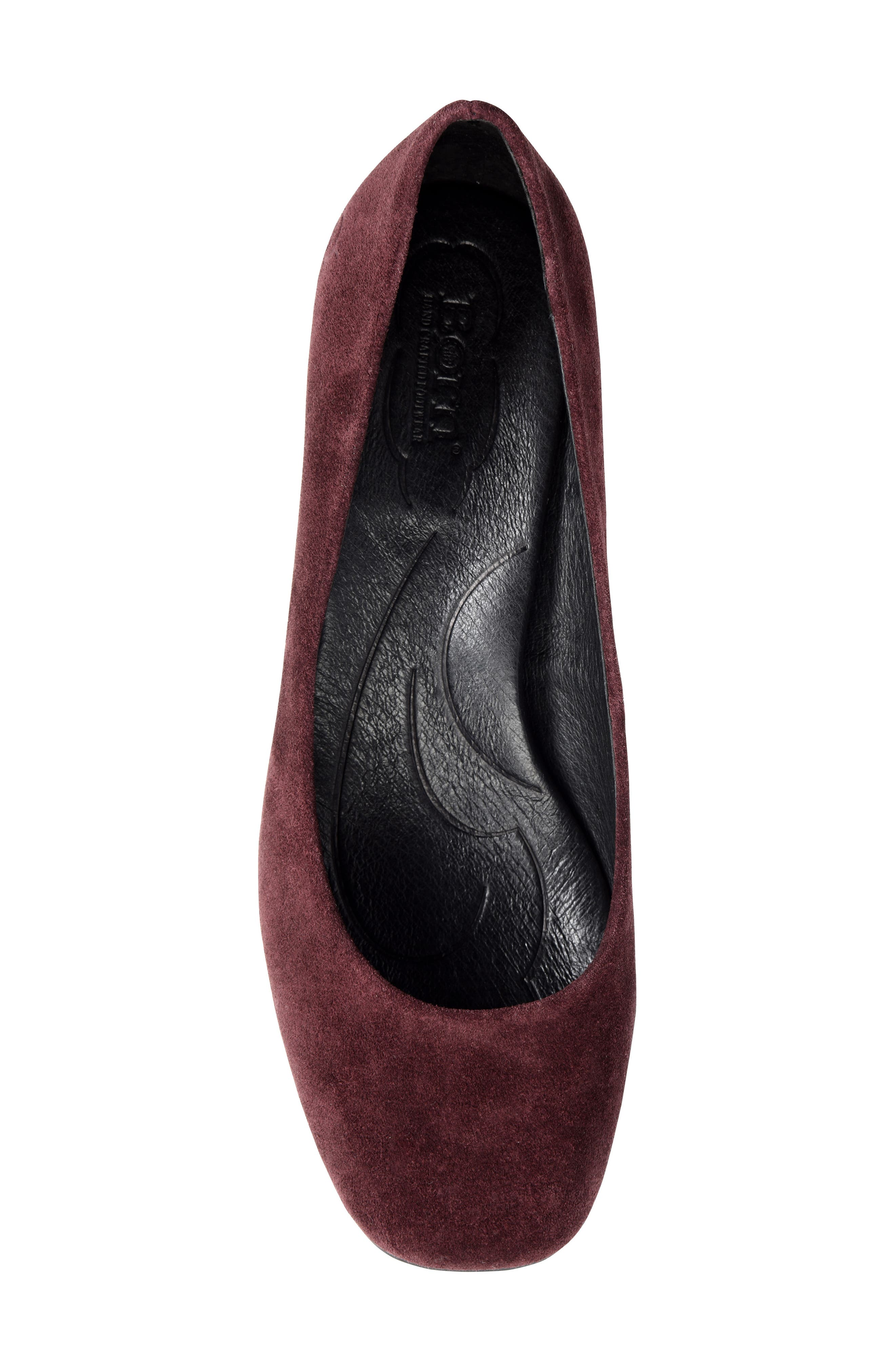 Amery Pump,                             Alternate thumbnail 5, color,                             Burgundy Suede