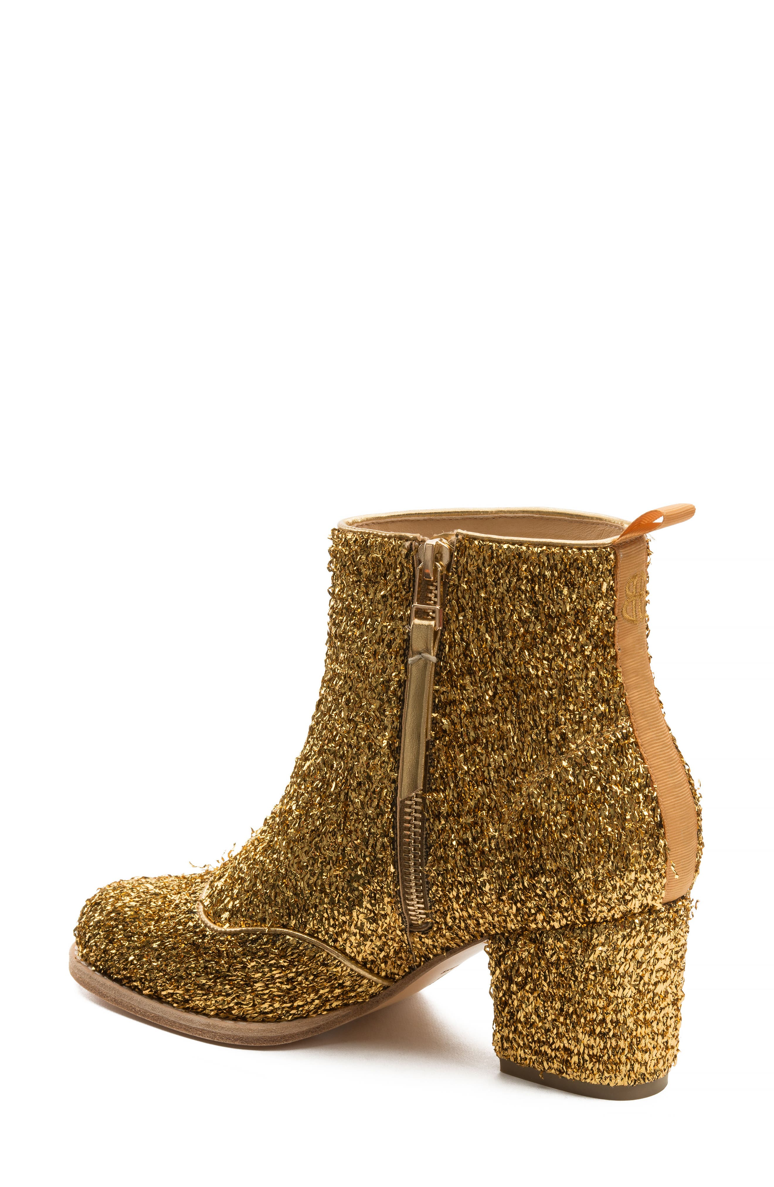 Bootie,                             Alternate thumbnail 2, color,                             Gold Tinsel Tweed