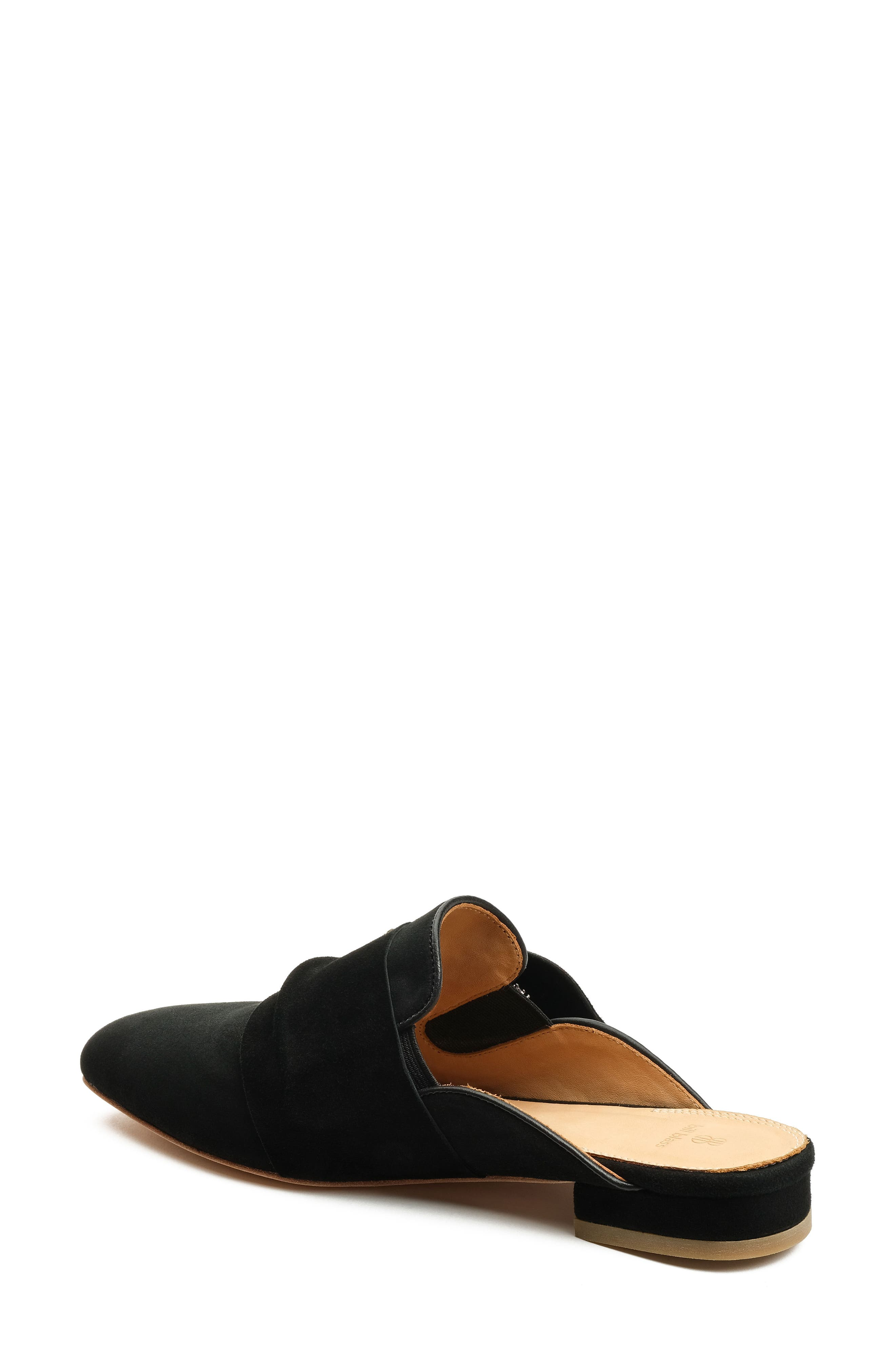 Laverne Tie Slide,                             Alternate thumbnail 2, color,                             Black Suede