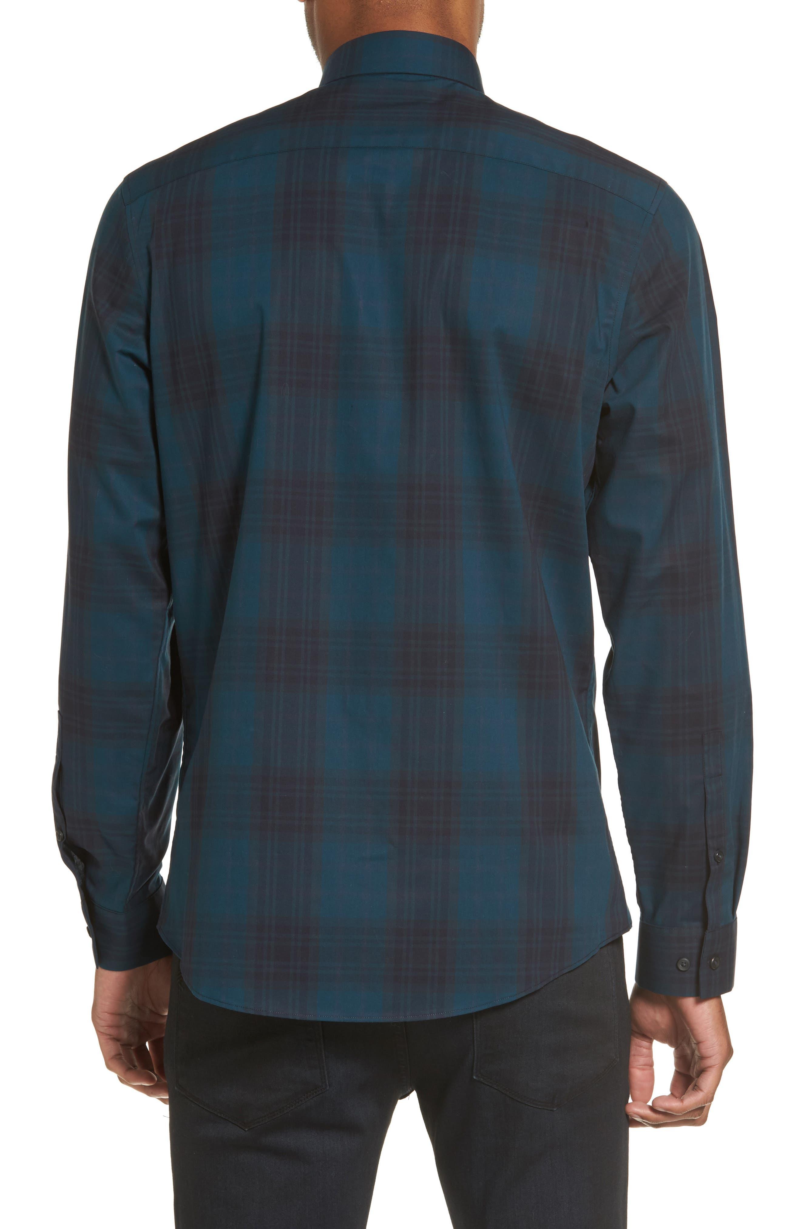 Check Sport Shirt,                             Alternate thumbnail 2, color,                             Blue Legion Navy Plaid