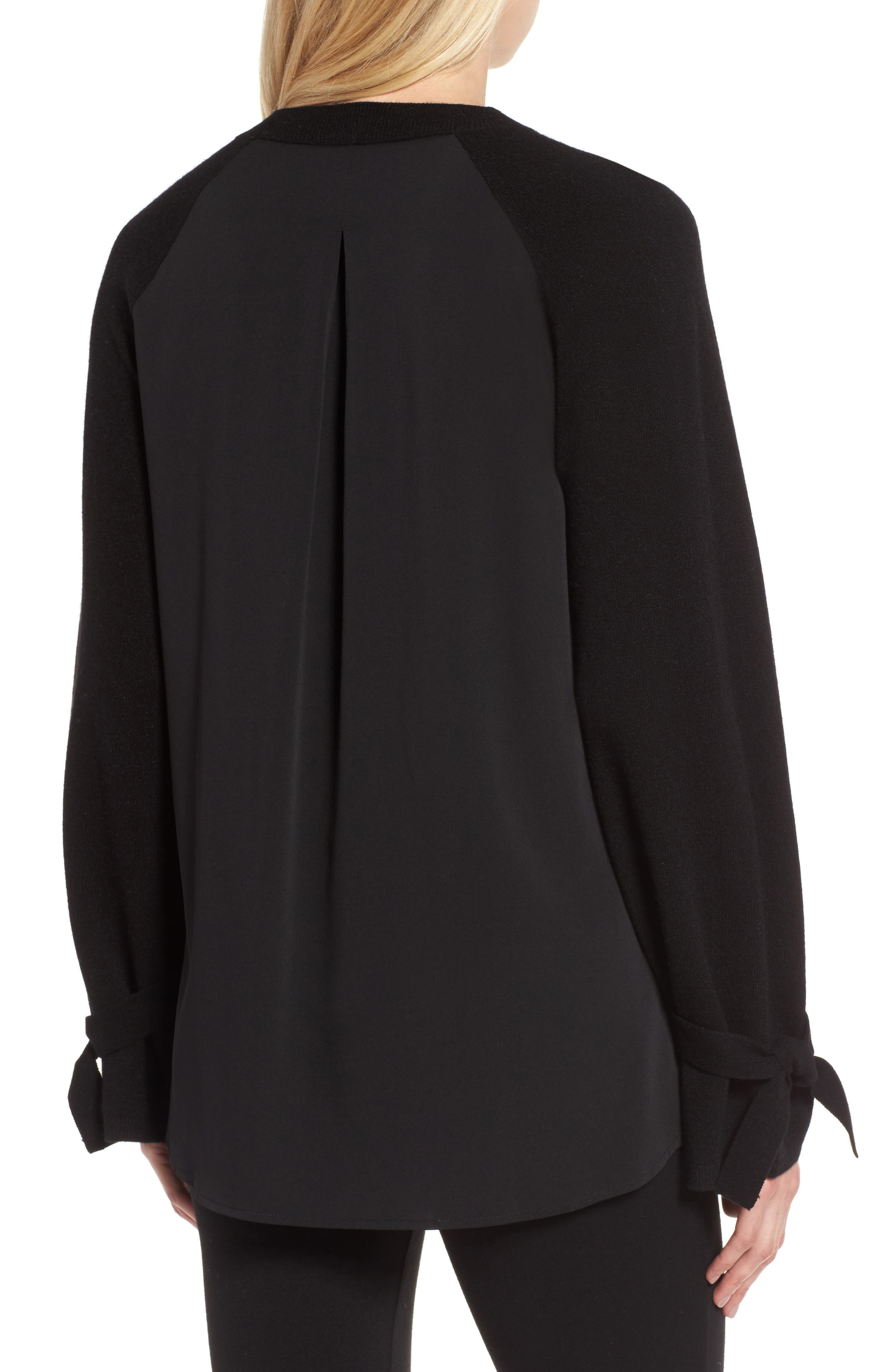 Alternate Image 2  - Nordstrom Signature Cashmere & Stretch Silk Pullover
