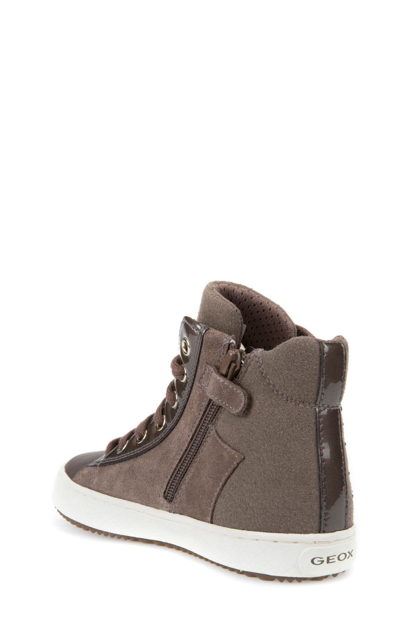 Kalispera Girl Embellished High Top Sneaker,                             Alternate thumbnail 3, color,                             Dark Beige