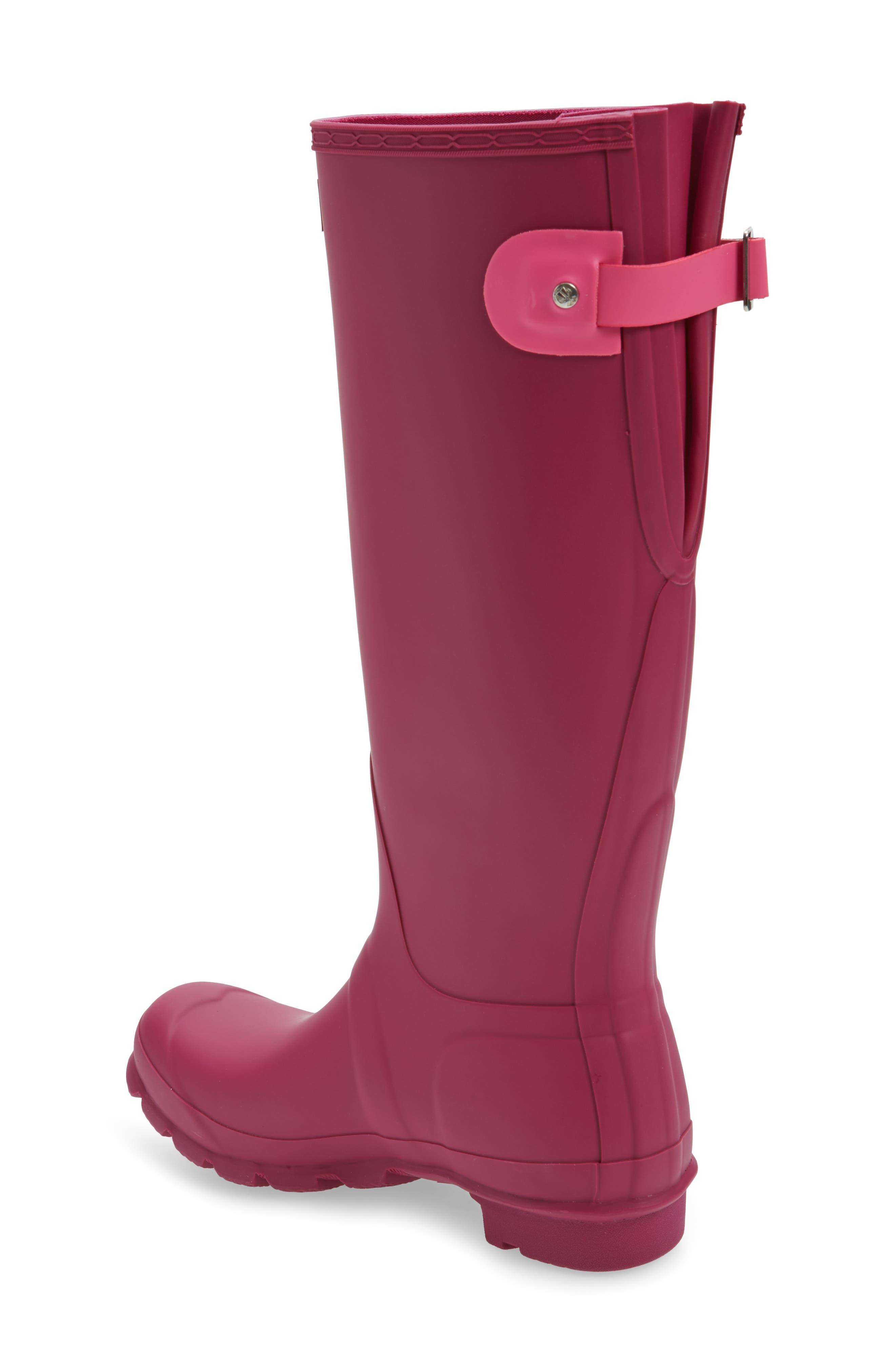 Adjustable Calf Rain Boot,                             Alternate thumbnail 2, color,                             Dark Ion Pink/ Ion Pink