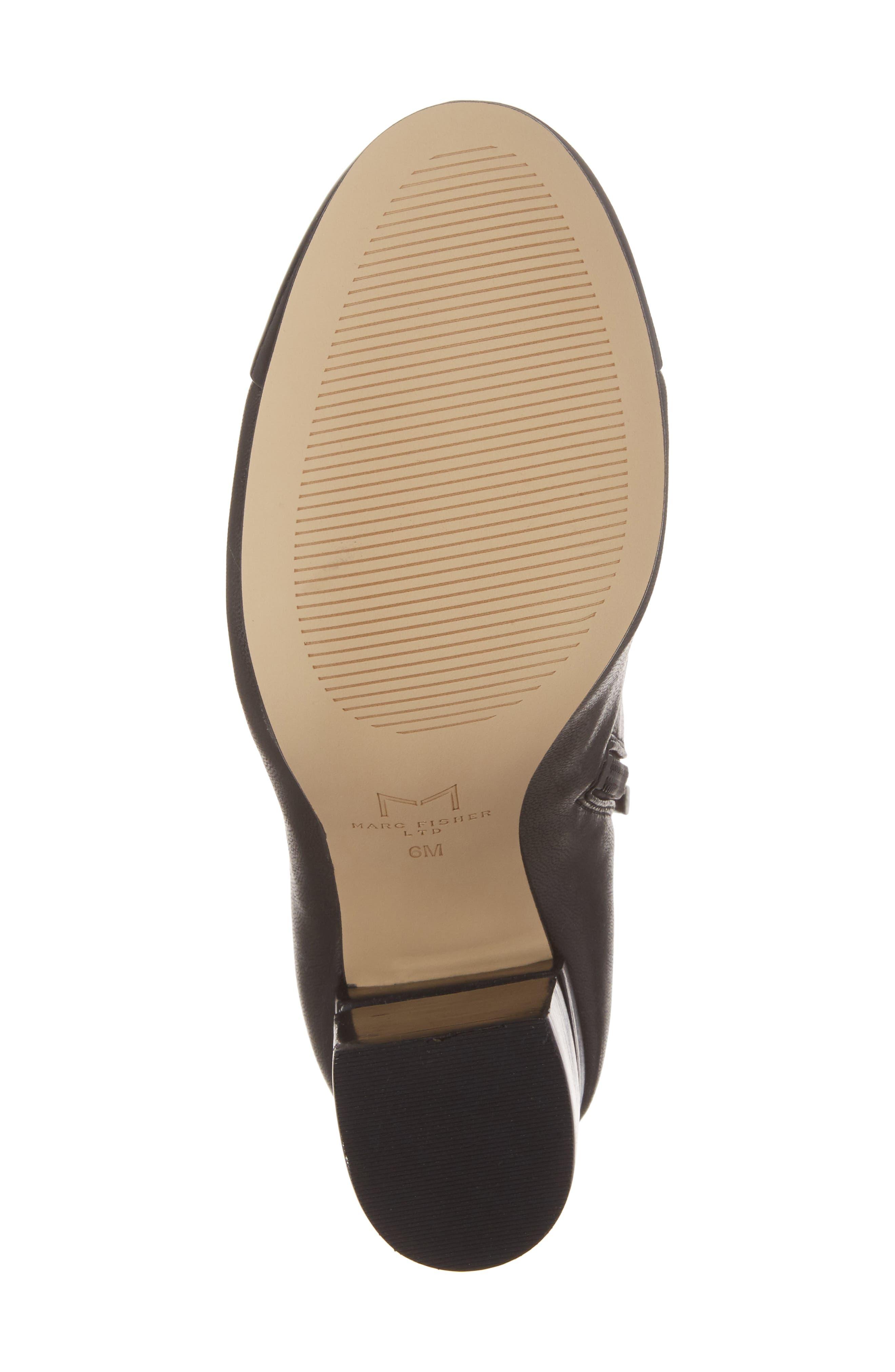 Prisa Cap Toe Bootie,                             Alternate thumbnail 6, color,                             Black Faux Leather