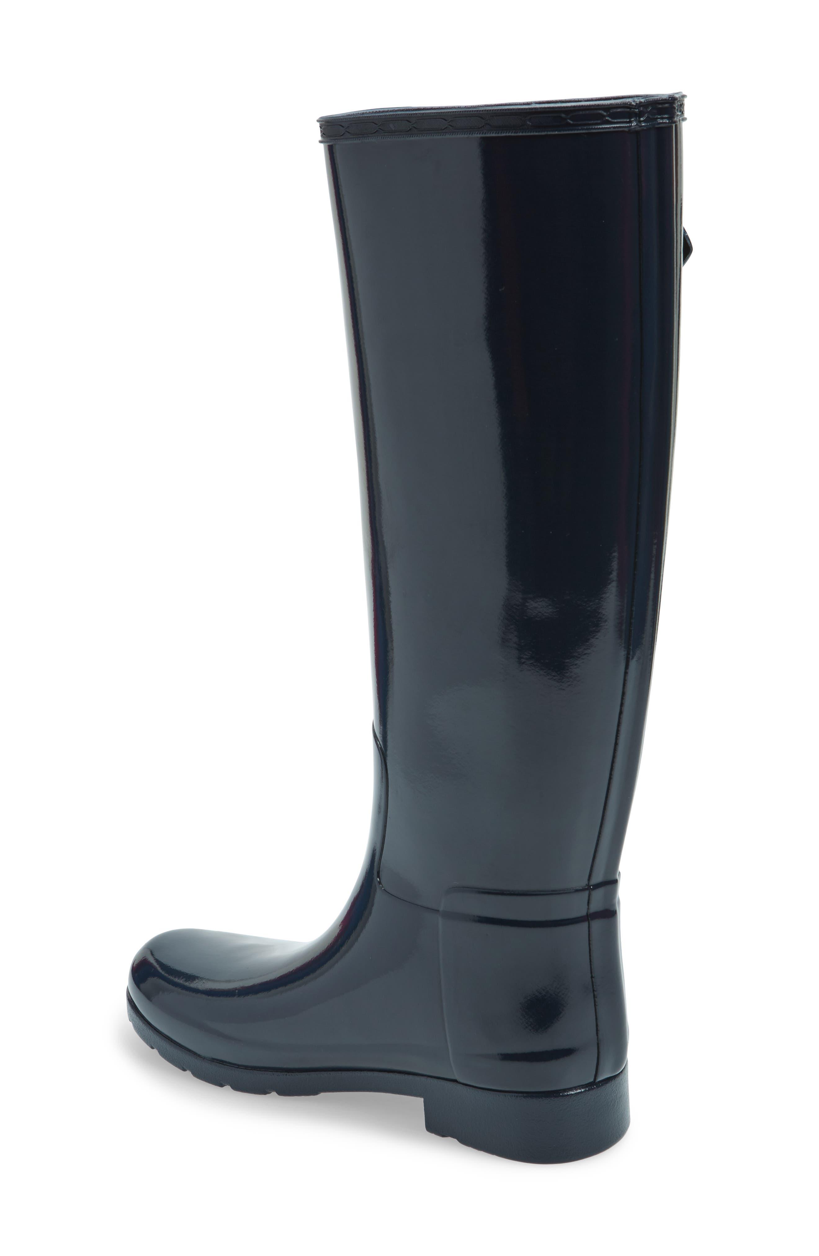 Alternate Image 2  - Hunter 'Original Refined' High Gloss Rain Boot (Women)