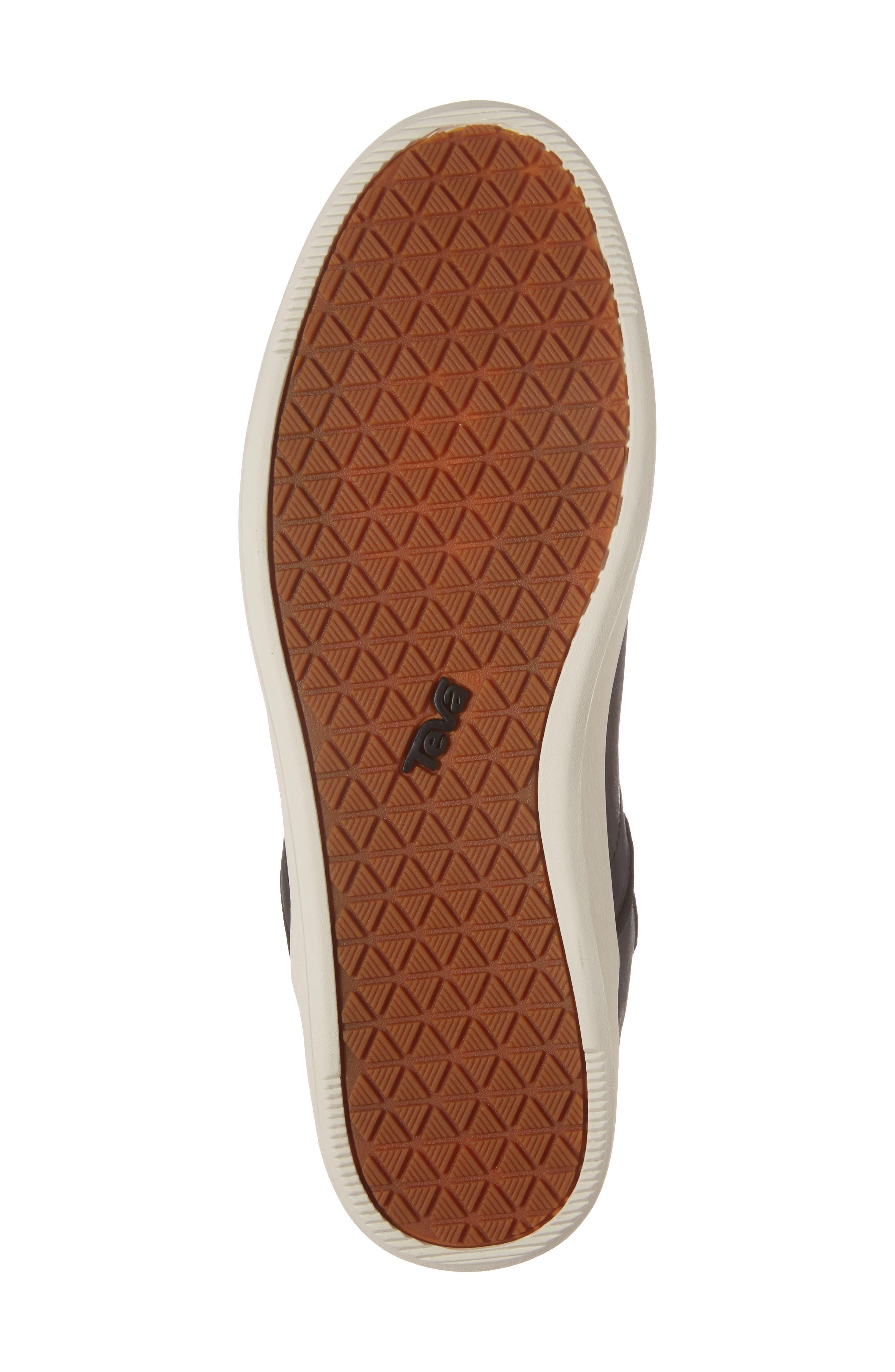 Willow Chelsea Sneaker,                             Alternate thumbnail 6, color,                             Black Leather