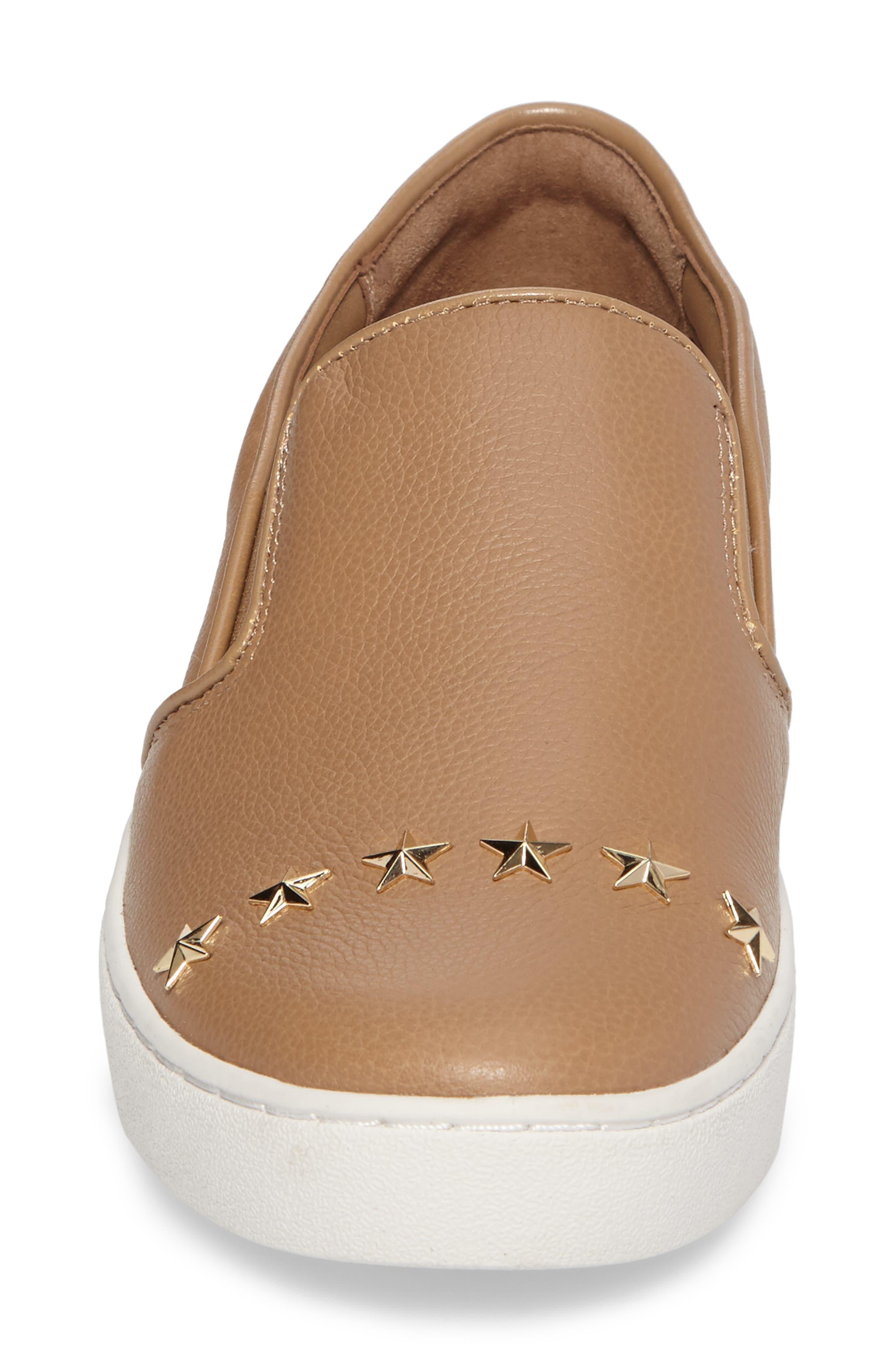 Keaton Slip-On Sneaker,                             Alternate thumbnail 4, color,                             Dark Khaki Star Stud