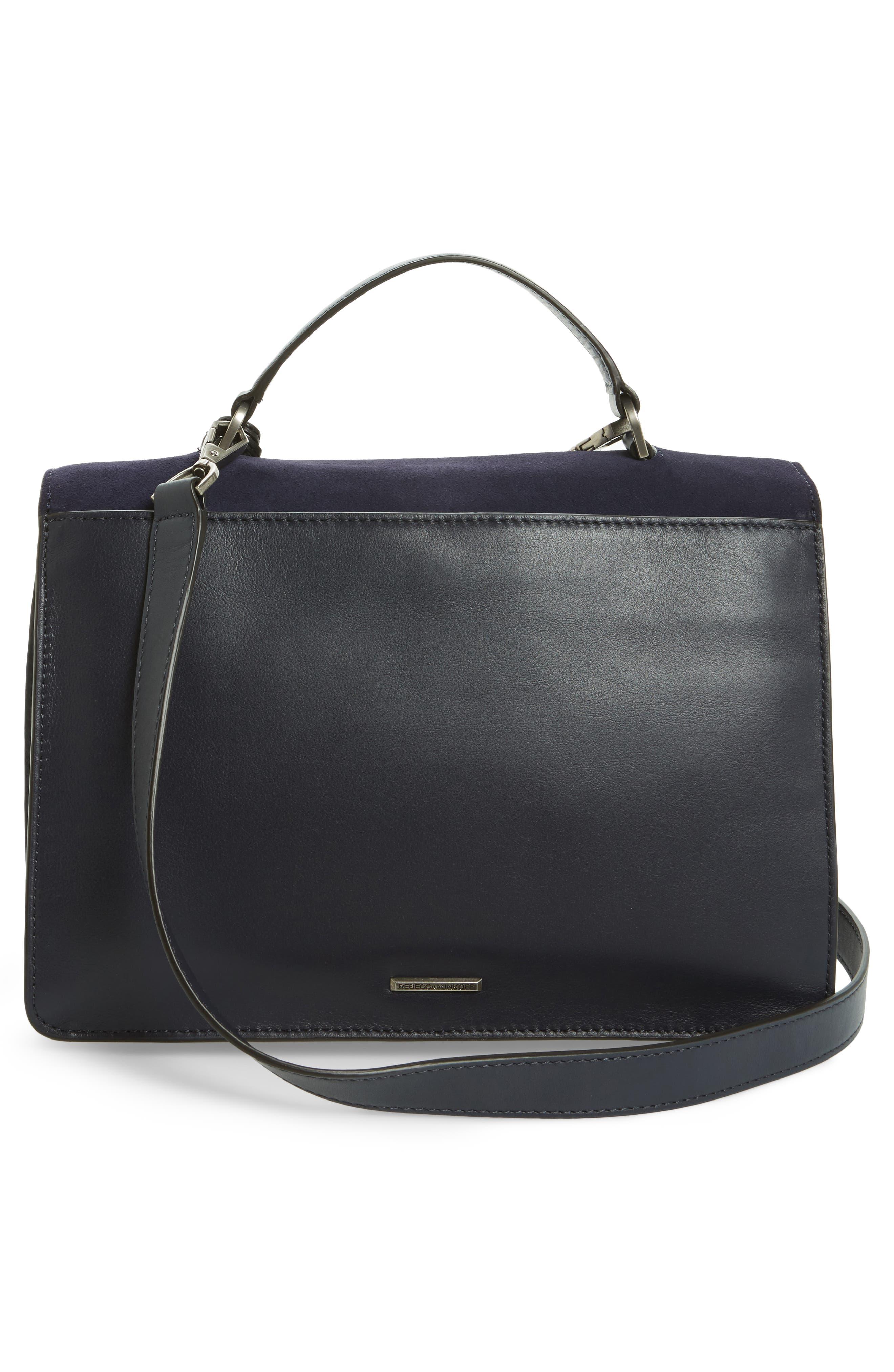 Top Handle Shoulder Bag,                             Alternate thumbnail 3, color,                             Black