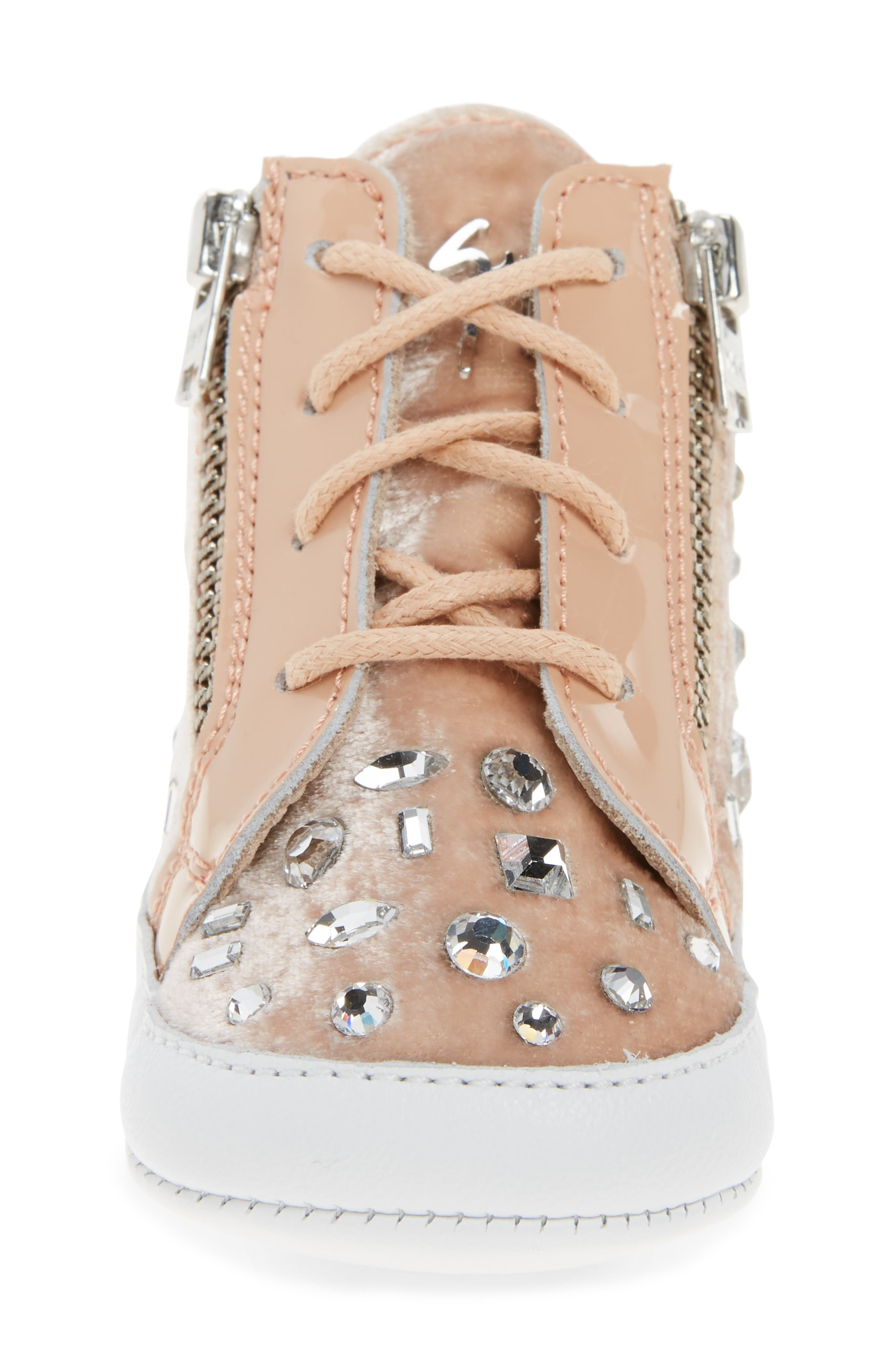 Alternate Image 4  - Giuseppe Zanotti Veronica Embellished Sneaker (Baby, Walker, Toddler & Little Kid)
