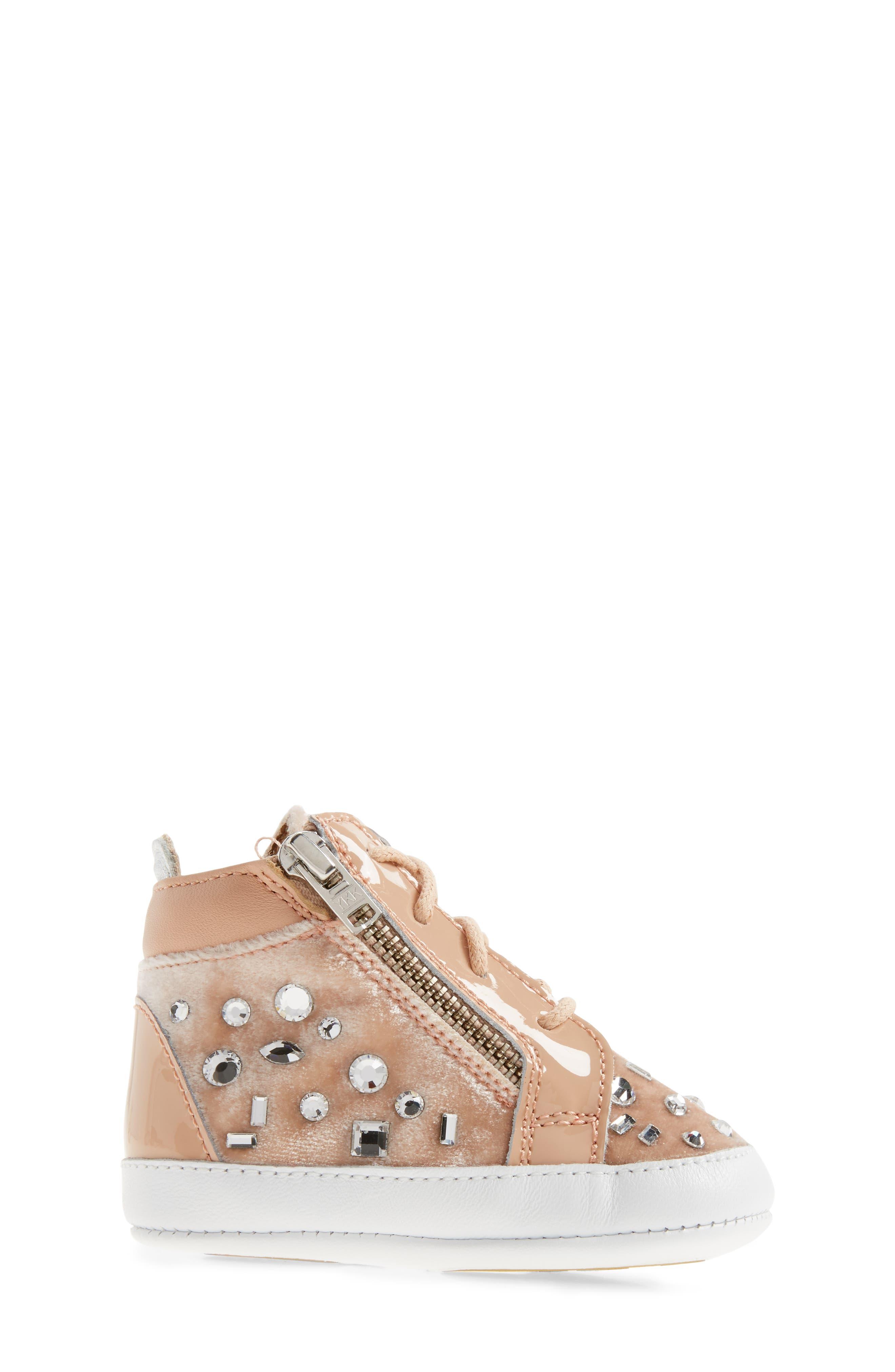 Alternate Image 3  - Giuseppe Zanotti Veronica Embellished Sneaker (Baby, Walker, Toddler & Little Kid)
