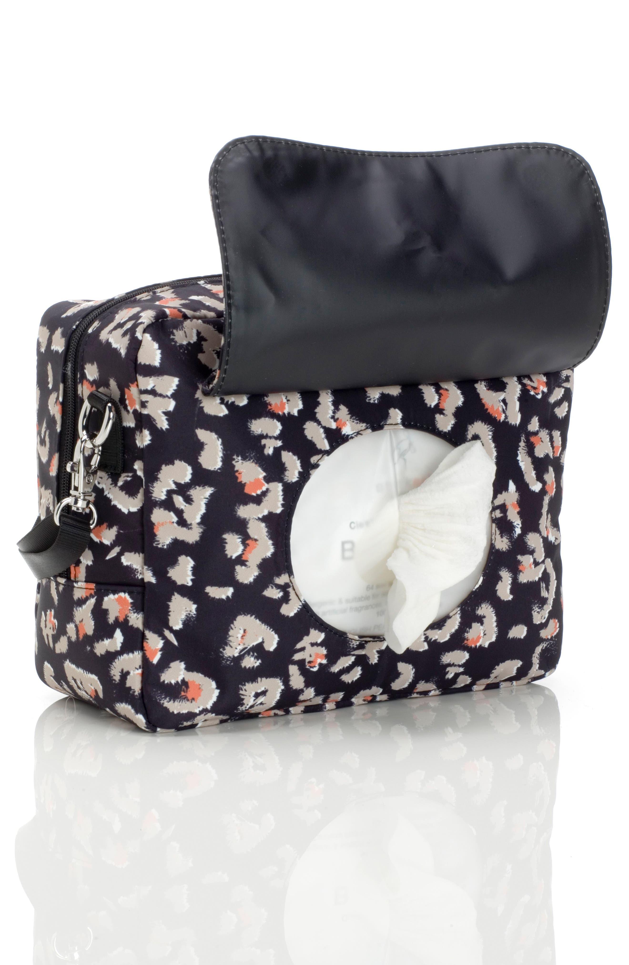 Mini Fix Crossbody Diaper Bag,                             Alternate thumbnail 5, color,                             Leopard