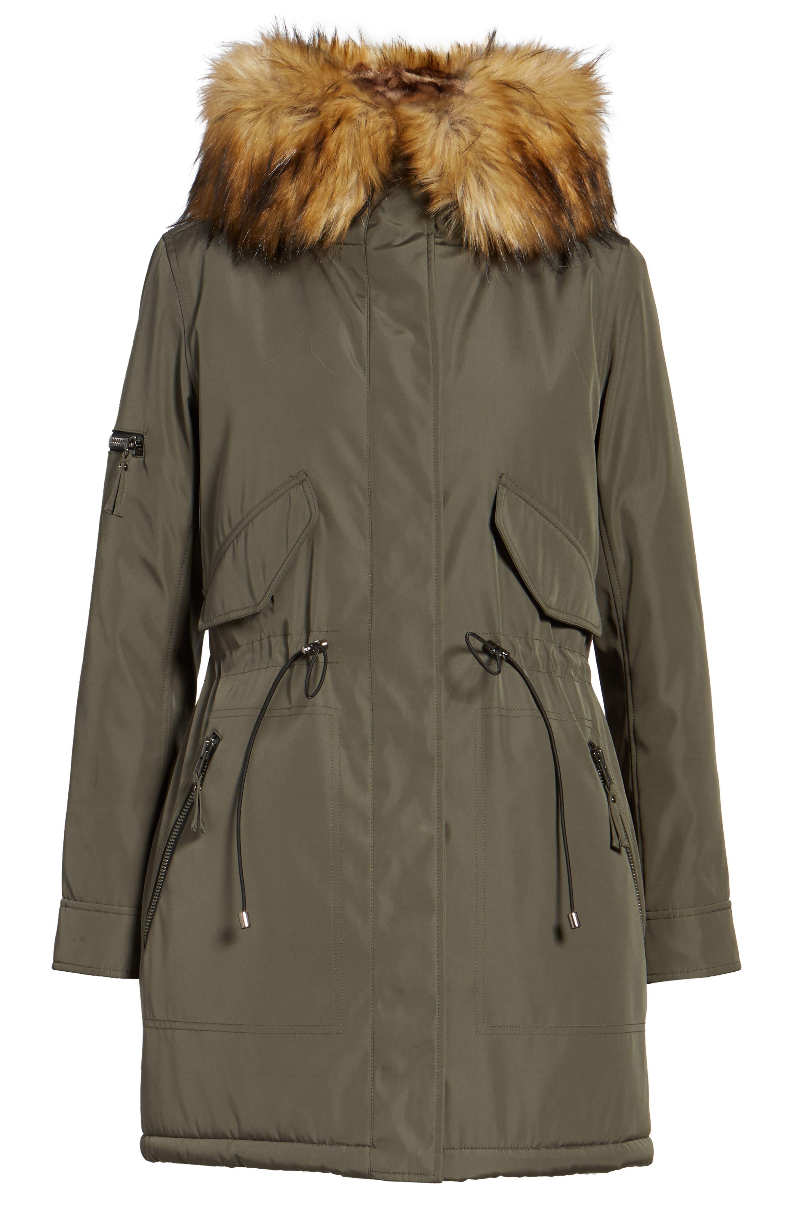 Alternate Image 6  - S13 Faux Fur Hooded Anorak