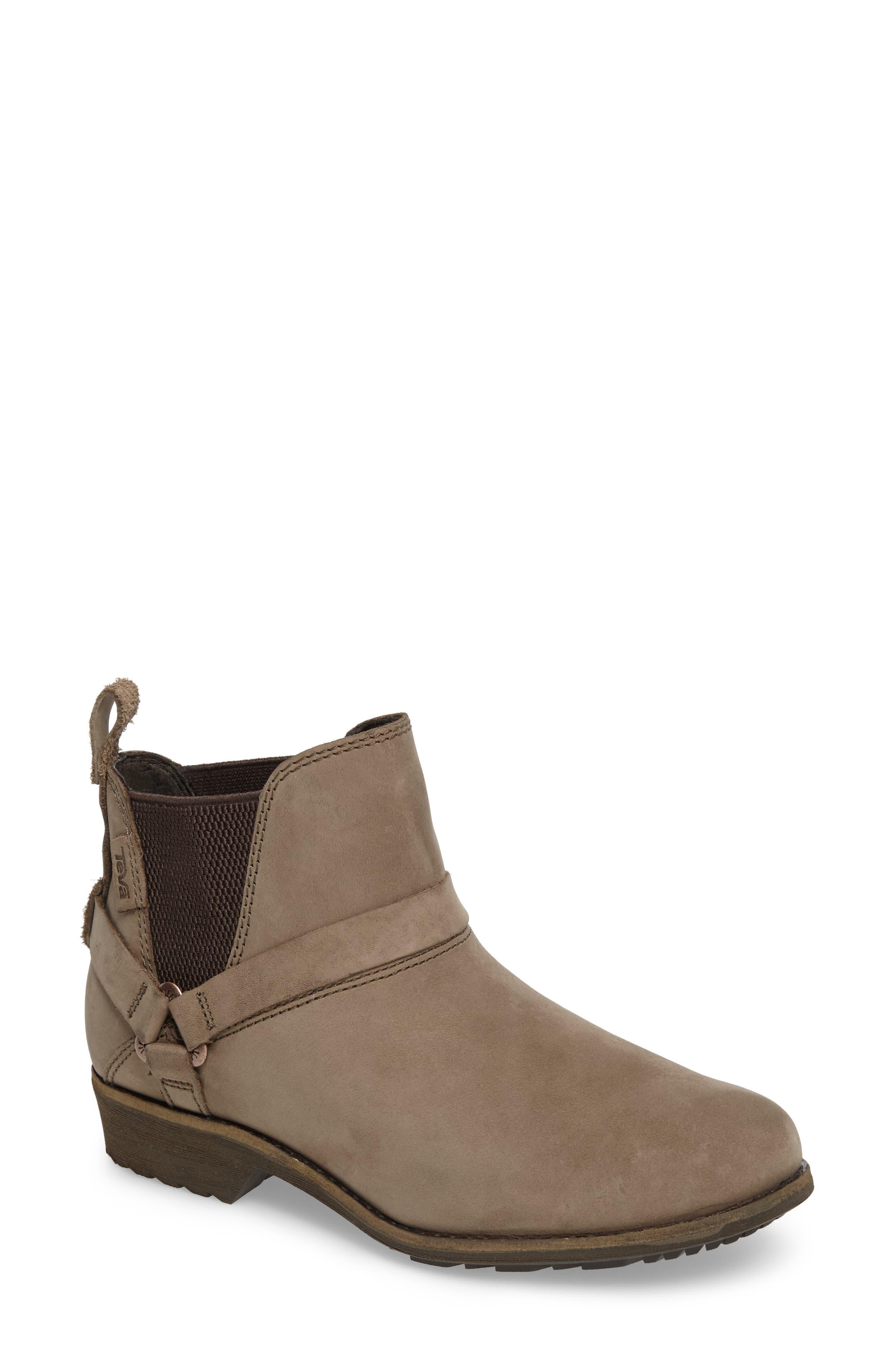 Dina La Vina Dos Waterproof Chelsea Boot,                             Main thumbnail 1, color,                             Bungee Cord Leather