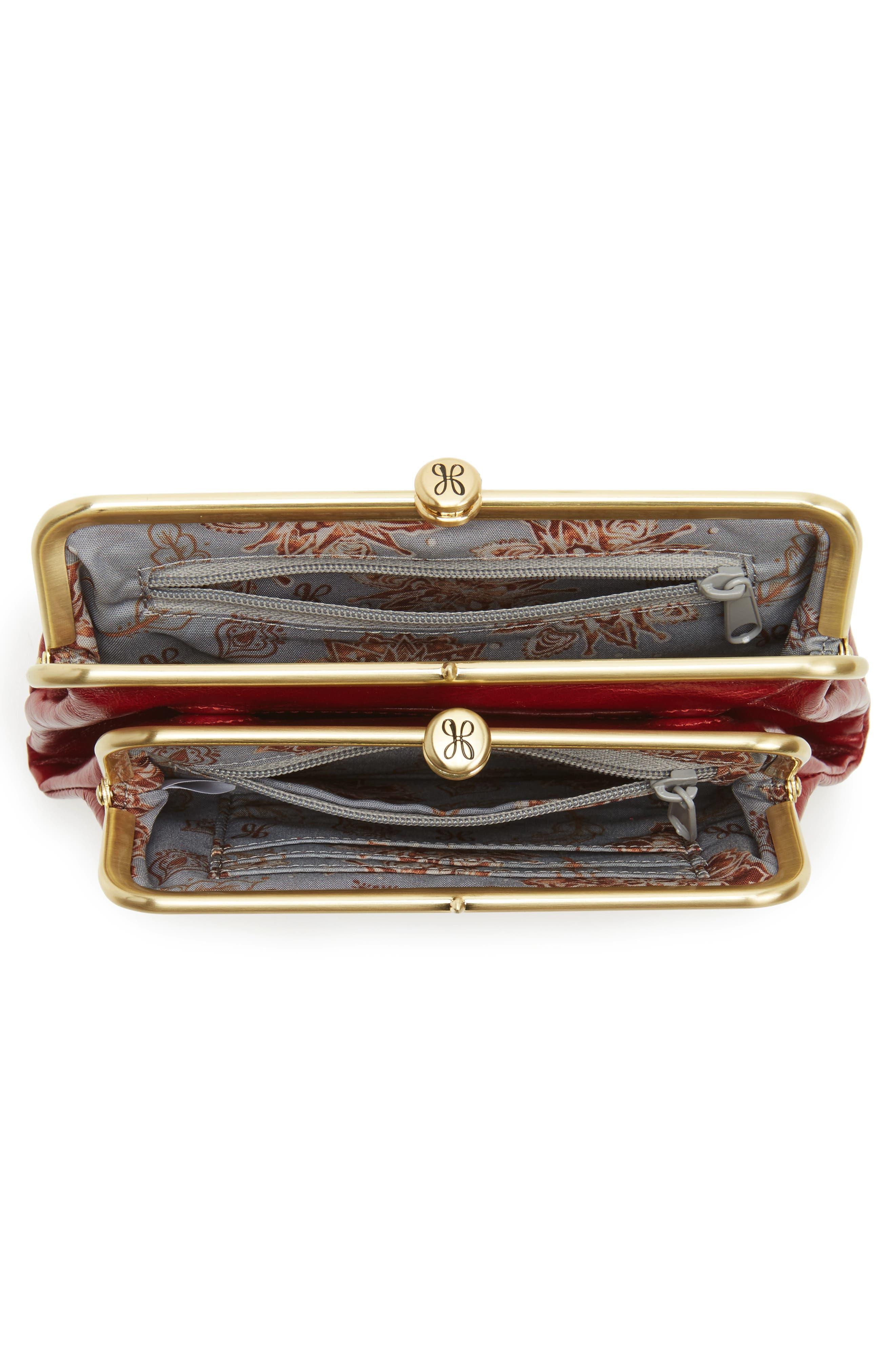 Suzette Calfskin Leather Wallet,                             Alternate thumbnail 2, color,                             Cardinal