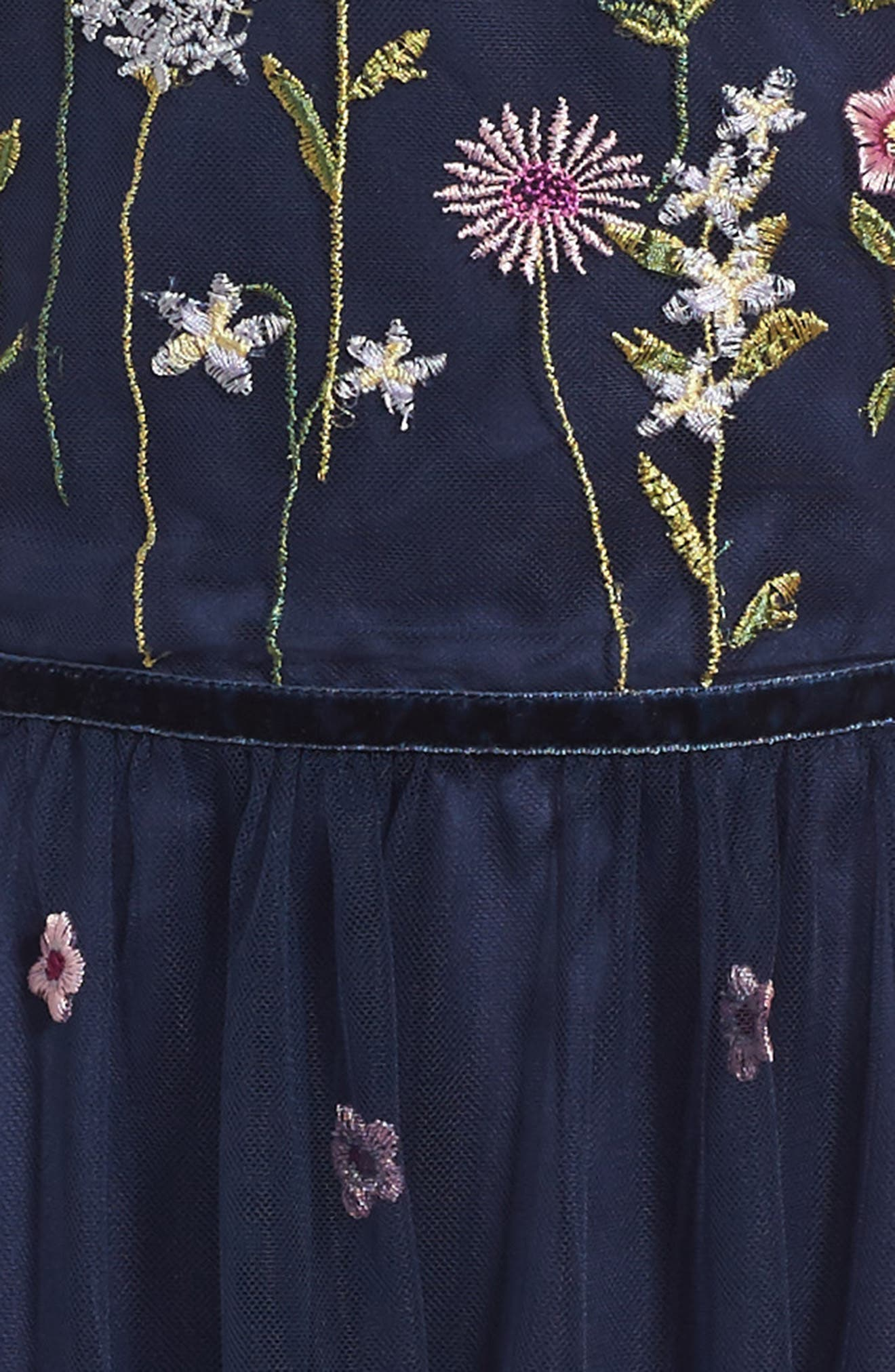 Alternate Image 3  - Oh My Meadow Embroidered Dress (Little Girls & Big Girls)