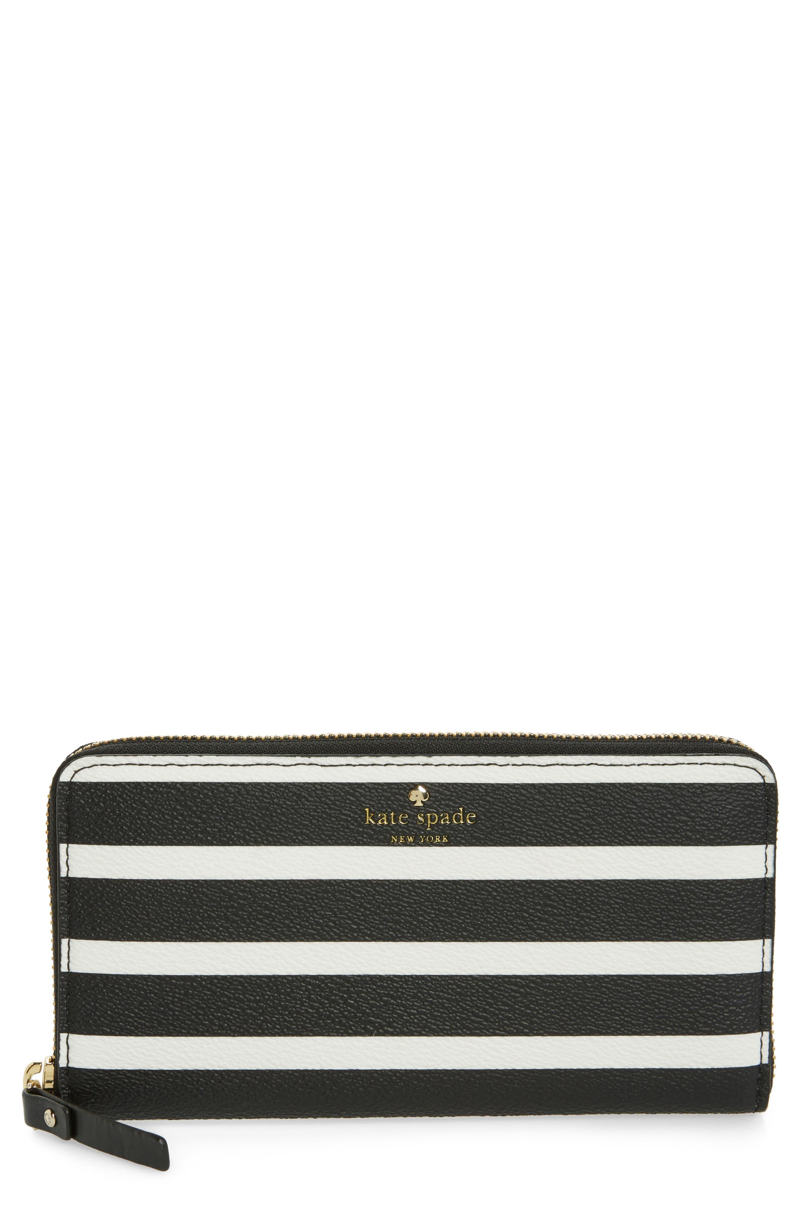 hyde lane - michele stripe wallet,                         Main,                         color, Black/ Cream