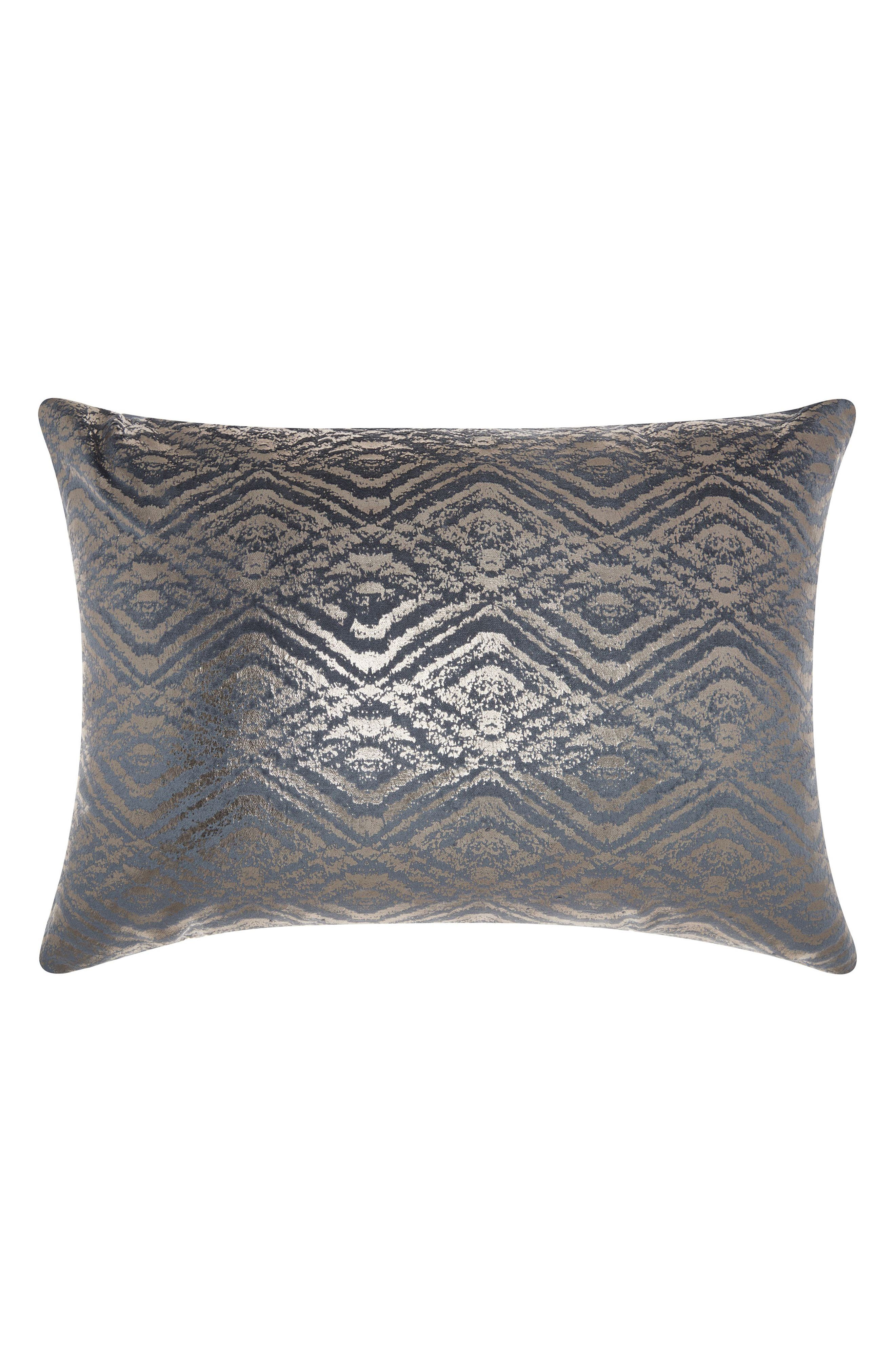 Metallic Diamonds Accent Pillow,                         Main,                         color, Blue