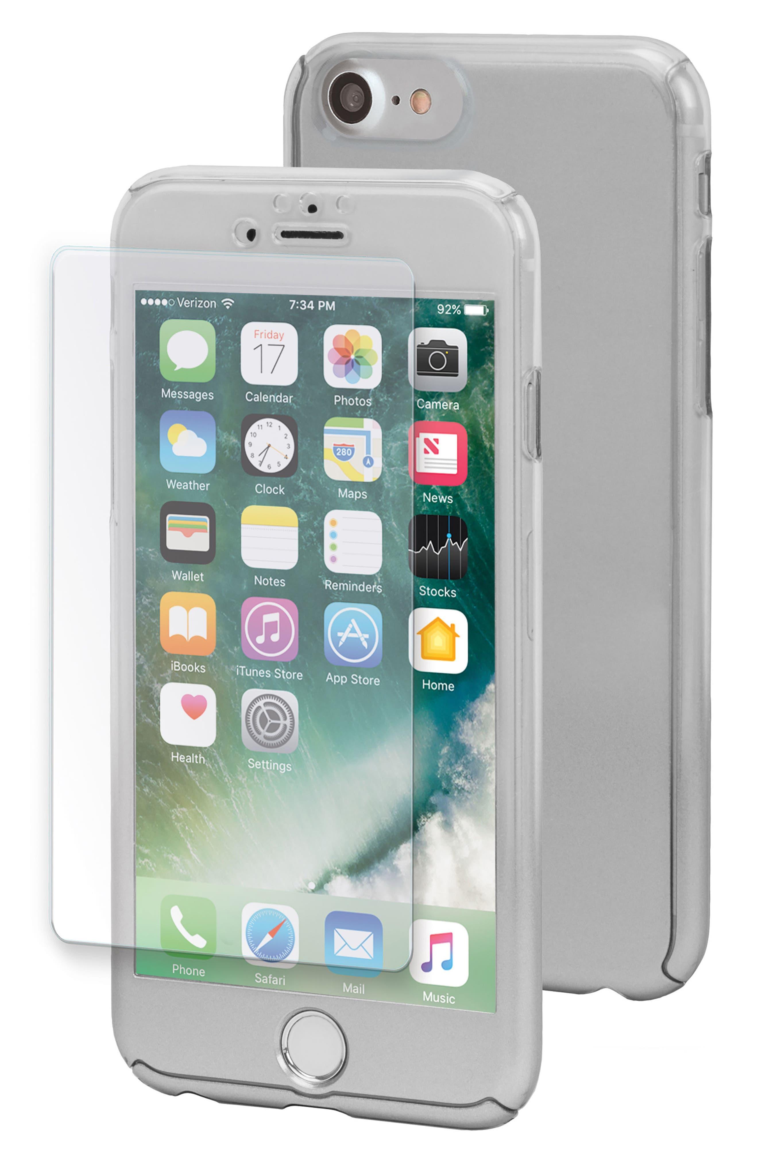 Ombré SlimShield 360 iPhone 7/8 Case,                             Main thumbnail 1, color,                             Silver