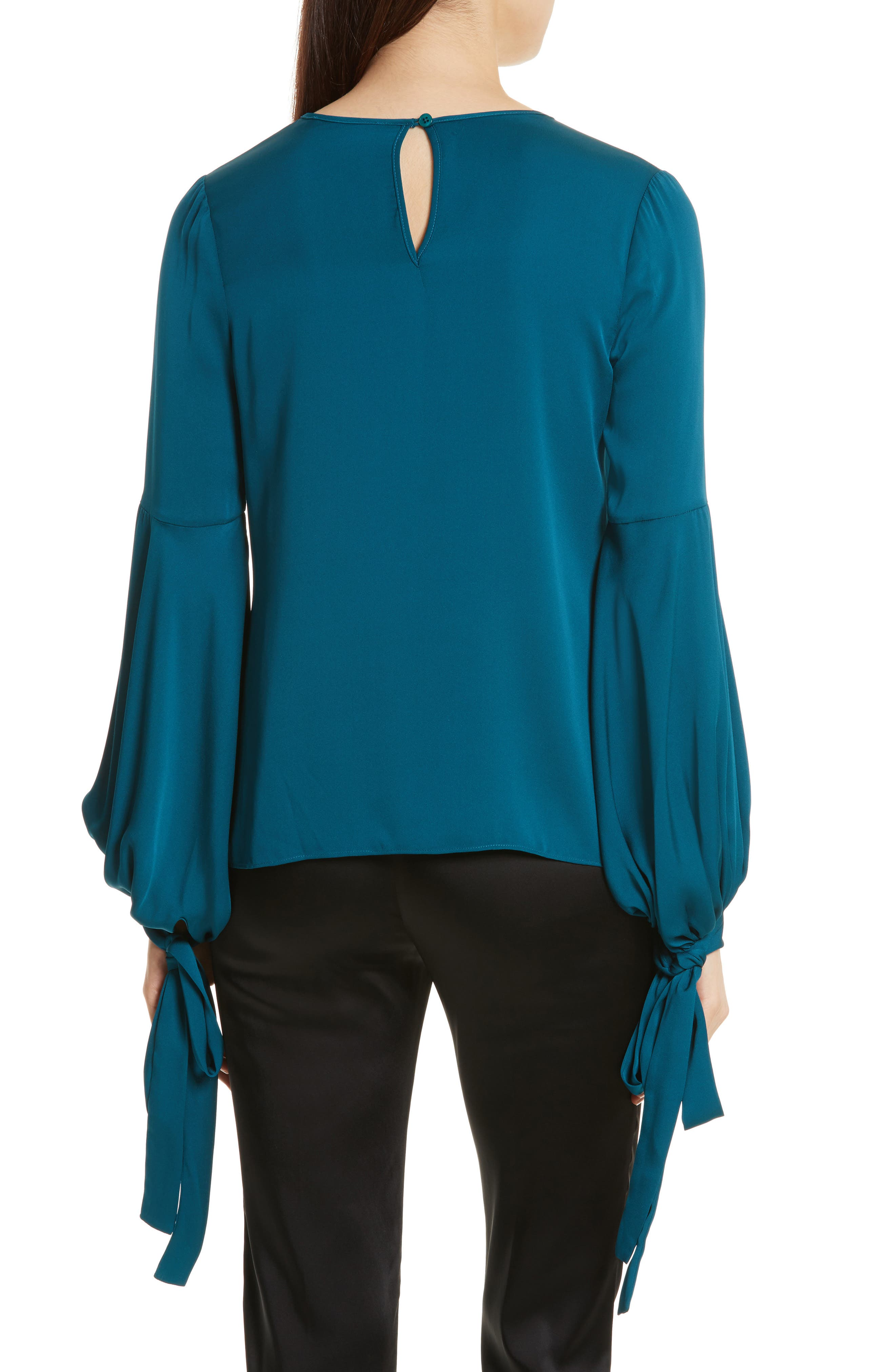 Alternate Image 2  - Milly Juliette Stretch Silk Blouse