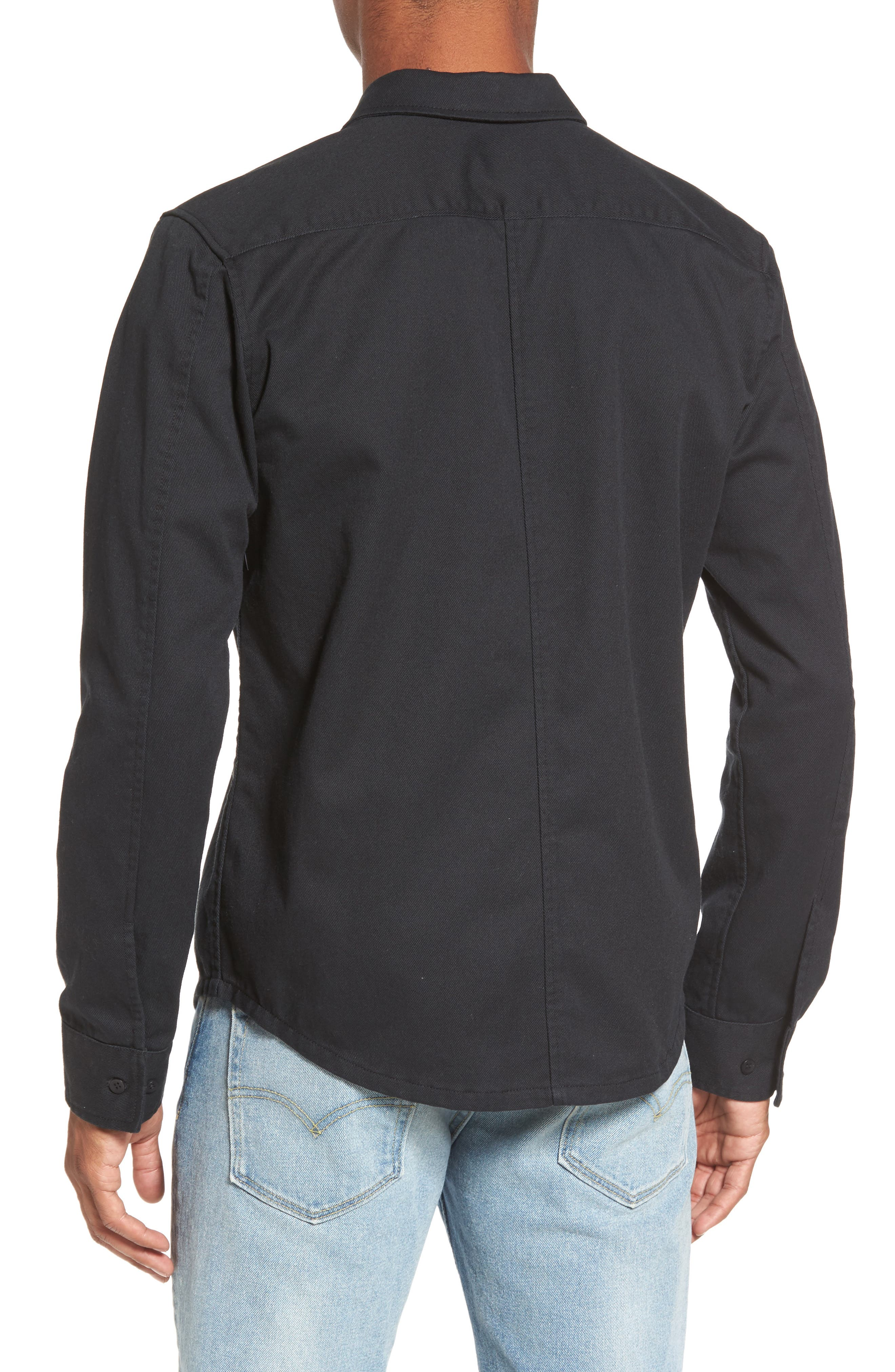 Rex Shirt Jacket,                             Alternate thumbnail 2, color,                             Black